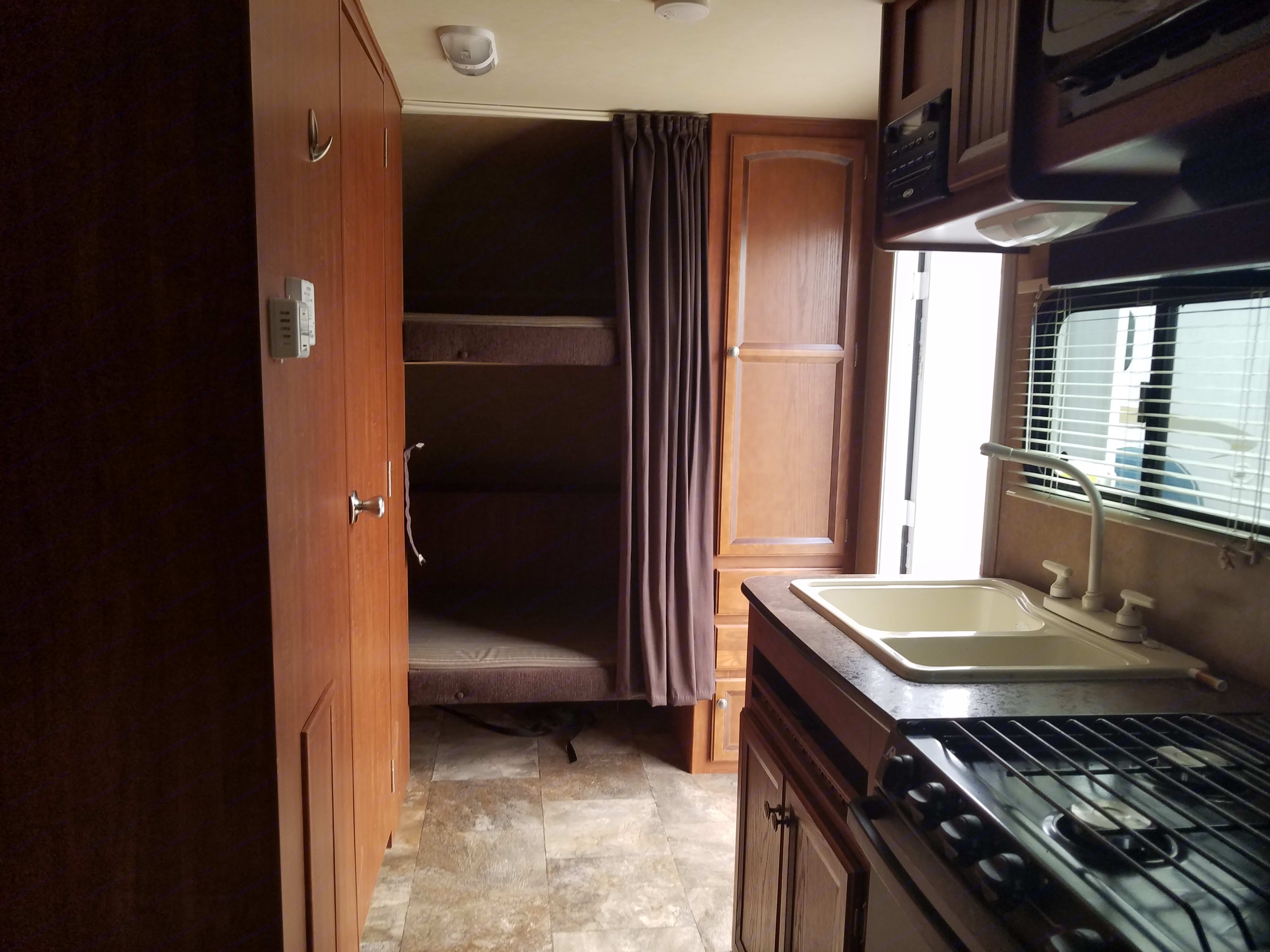 looking toward back of trailer/bunks. Jayco Jay Feather Ultra Lite 2013