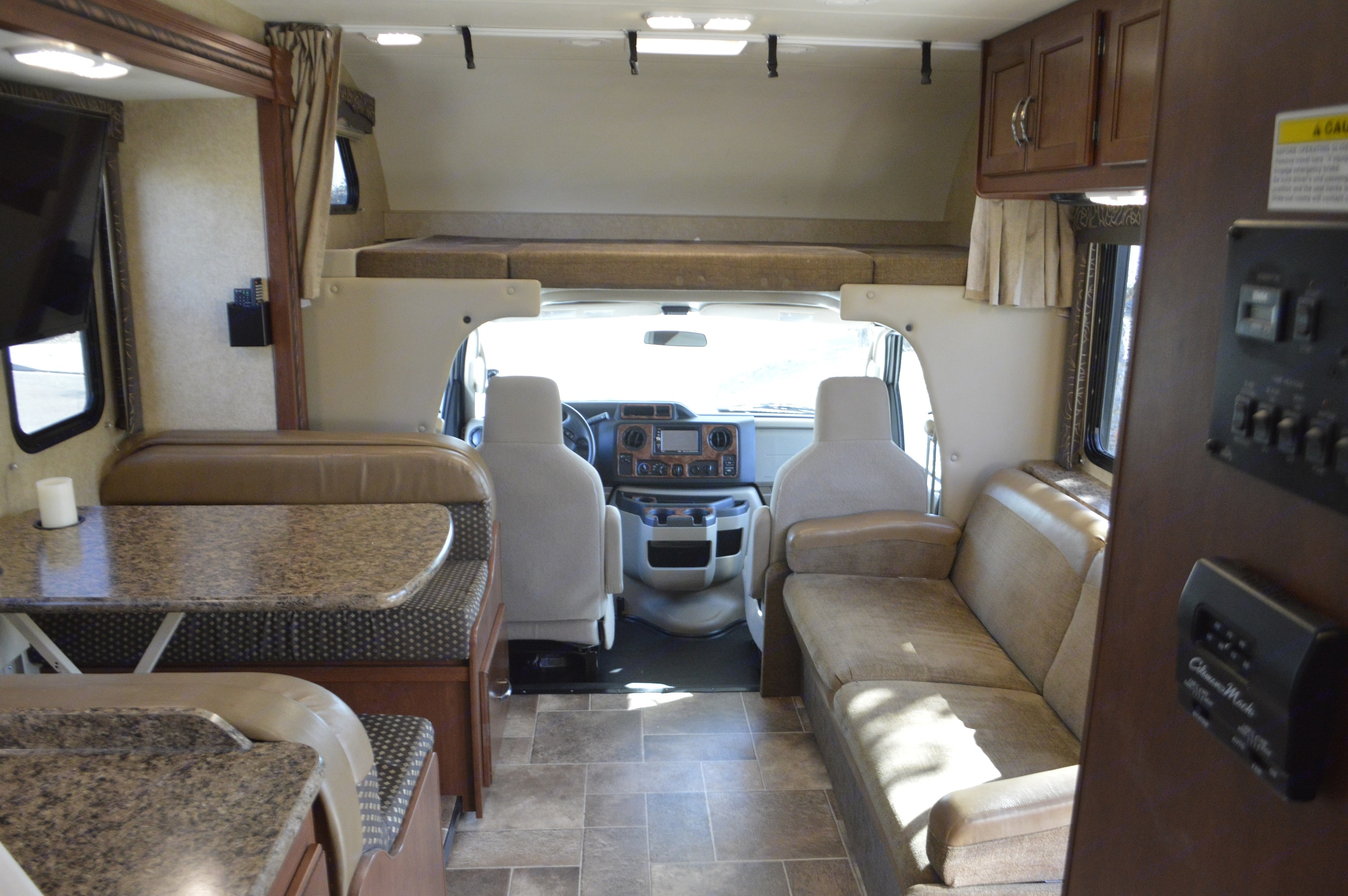 Interior looking from back bedroom. Thor Motor Coach Chateau 2016