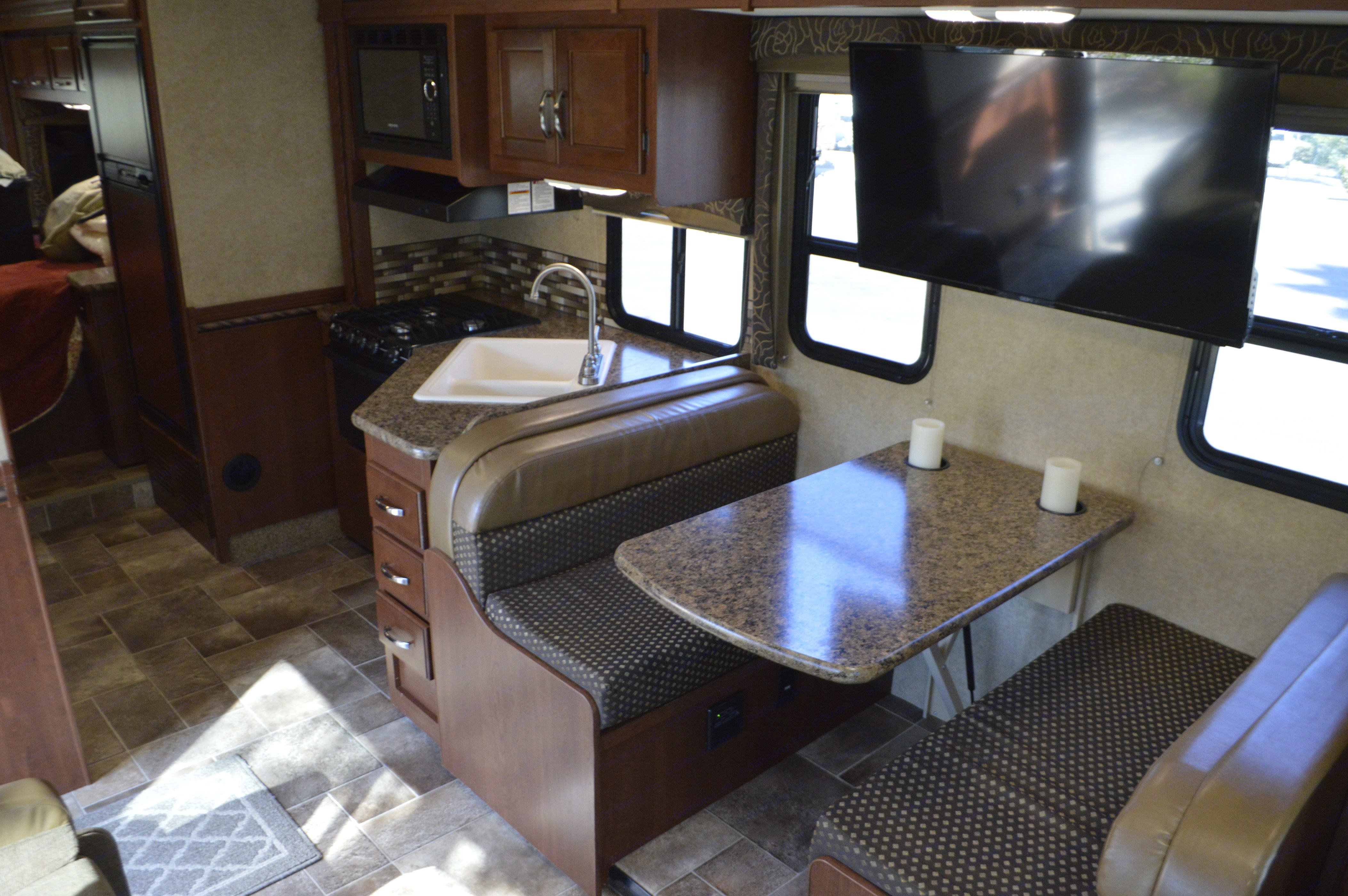Kitchen and dining area. Thor Motor Coach Chateau 2016