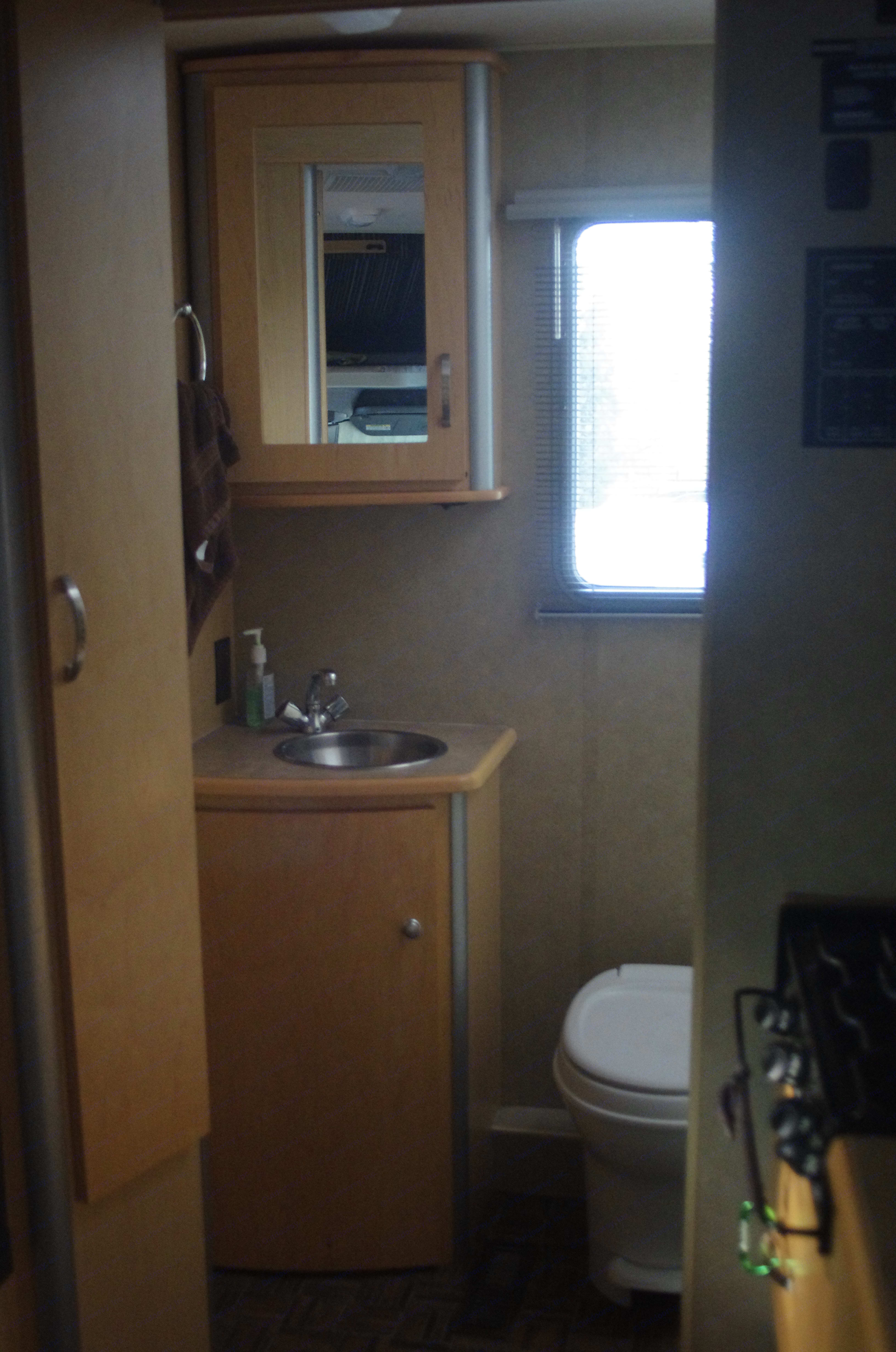 Bathroom in the back. Winnebago View 2008