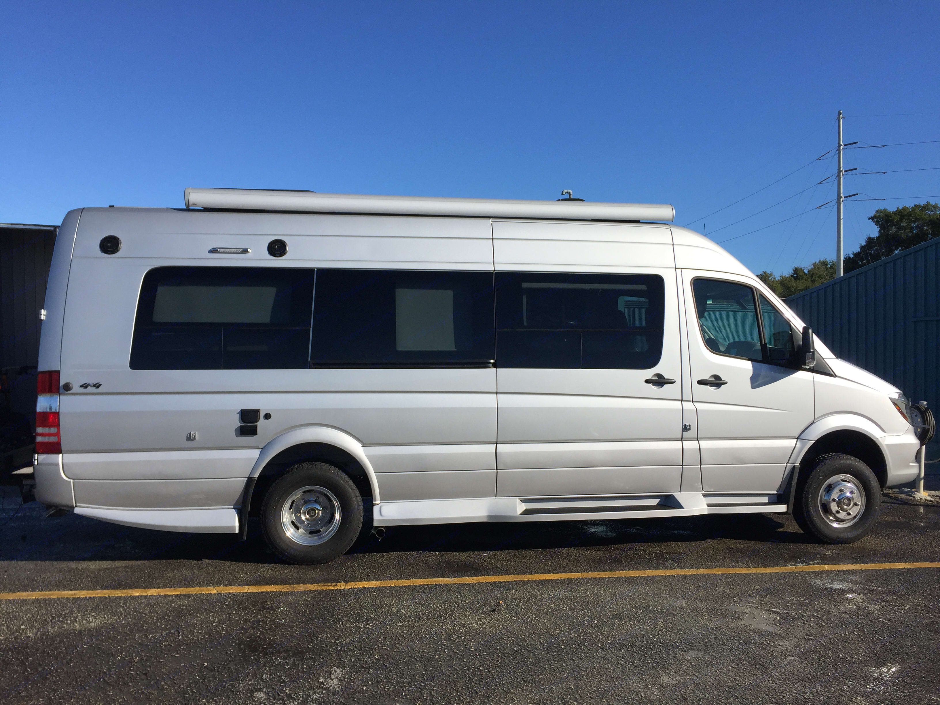 Awning is located on the passenger side of RV. Winnebago Era 2017