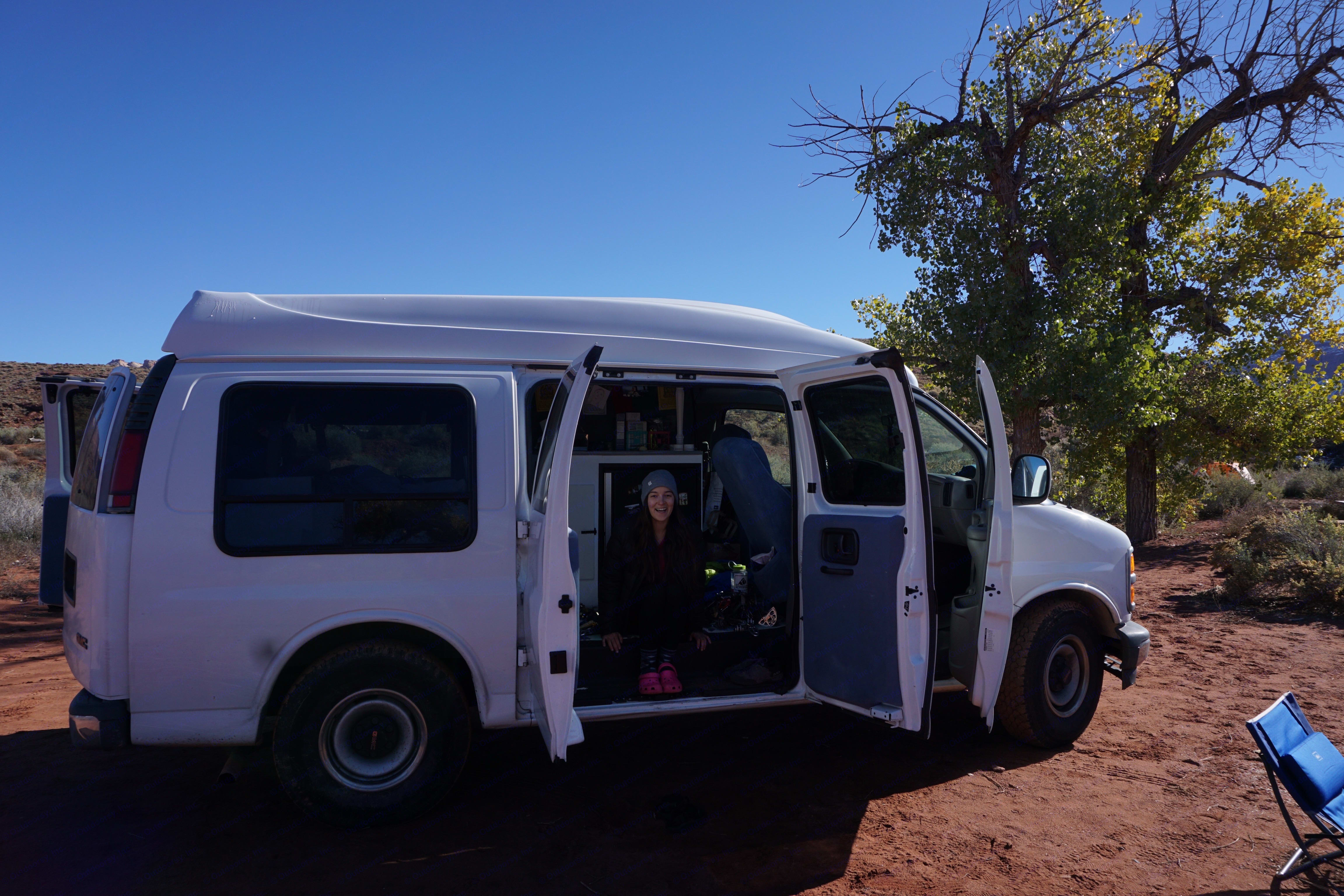 The van in Utah. Gmc Savanna 2000