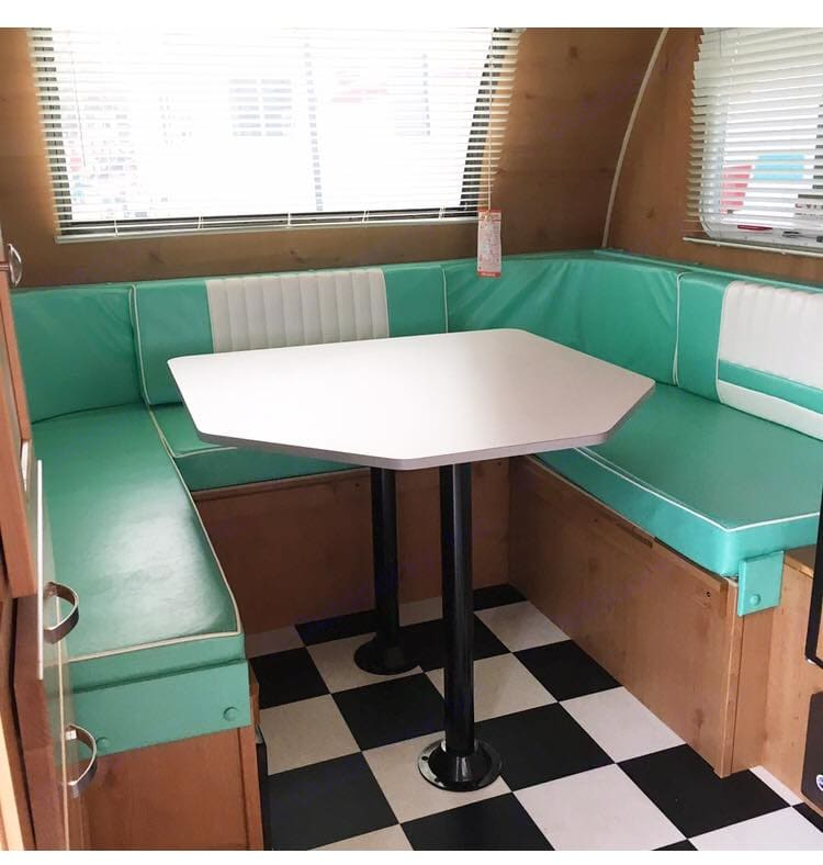 The interior character of our sweet FOUR Retro RV is limitless.  Featured in countless photo shoots and editorials, you will simply fall in love with the 1950s vintage-diner style.. Riverside Rv Retro 2018