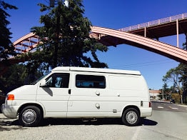 Outside of van in LaConner Washington. Winnebago Eurovan Camper Eurovan Camper 1997