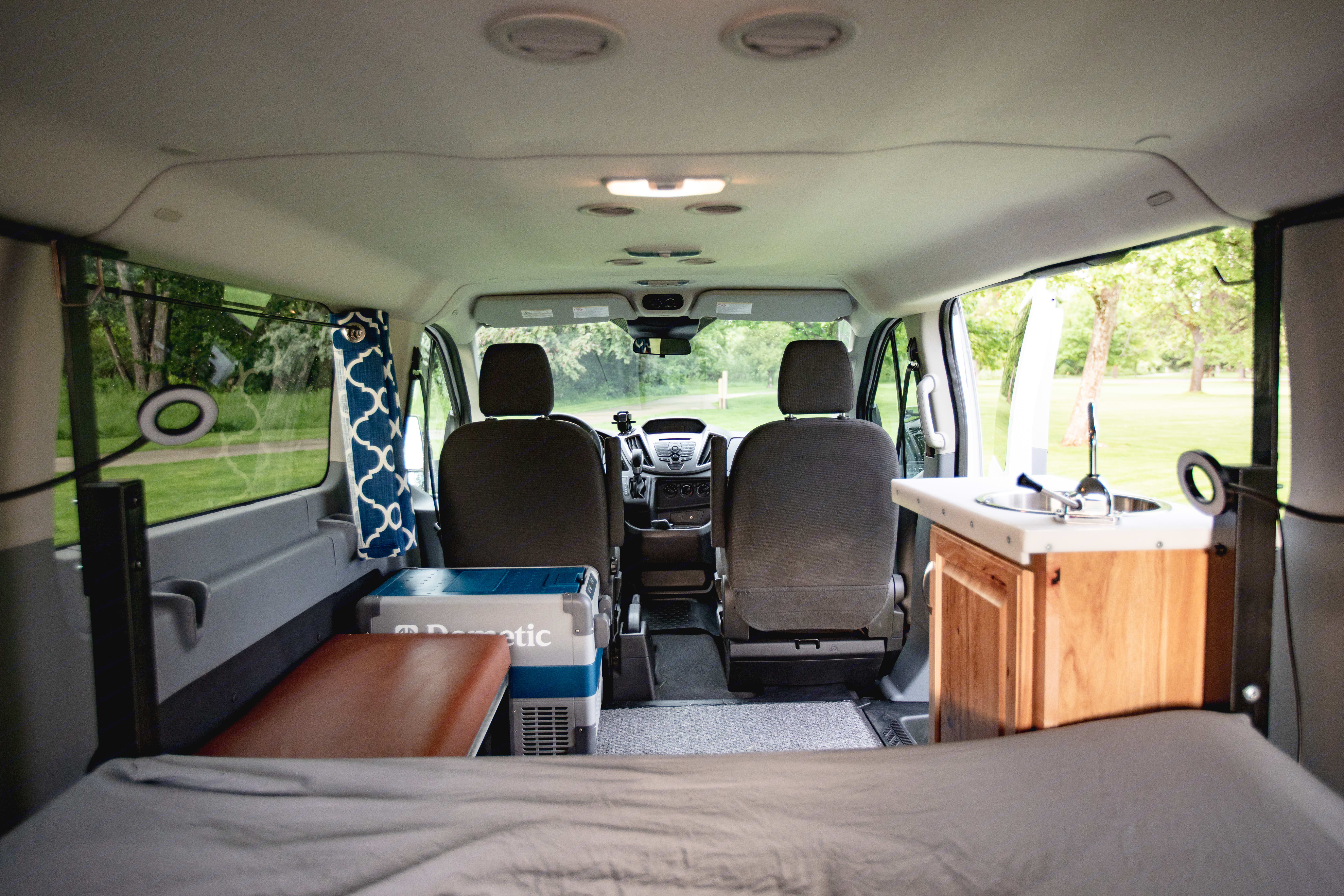 Looking forward from the bed.. Ford Transit 350 2016