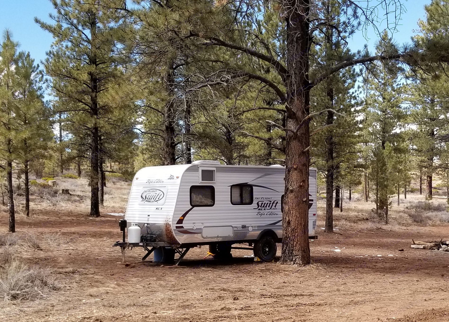 Our Baja dry camping outside of Bryce Canyon National Park.. Jayco Baja 2014