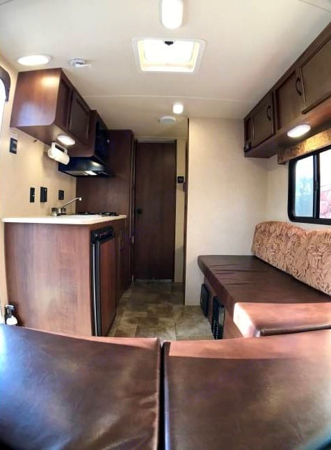 Interior from the front table area.. Jayco Baja 2014
