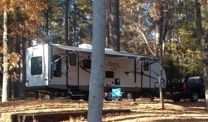 Exterior view of trailer. Coachmen Apex 2016