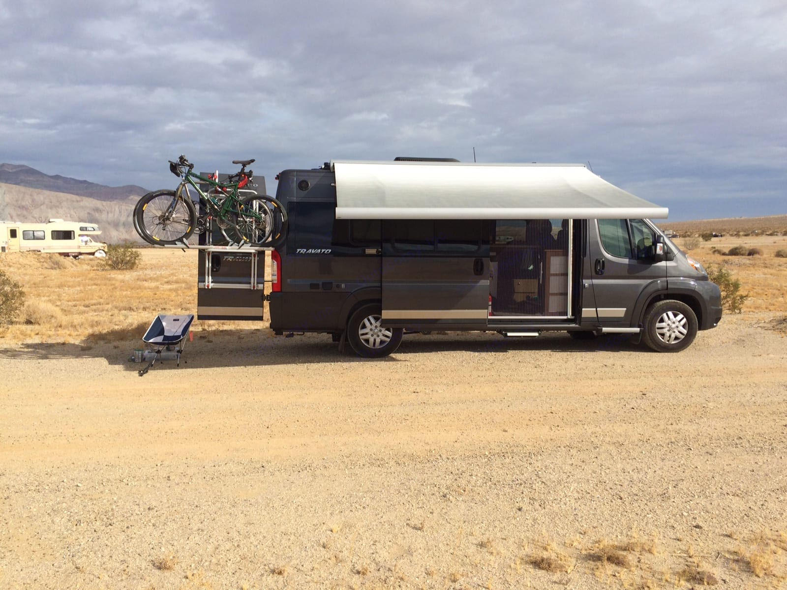 Comfortable and practical in a city, or the hot desert. Winnebago Travato 2017
