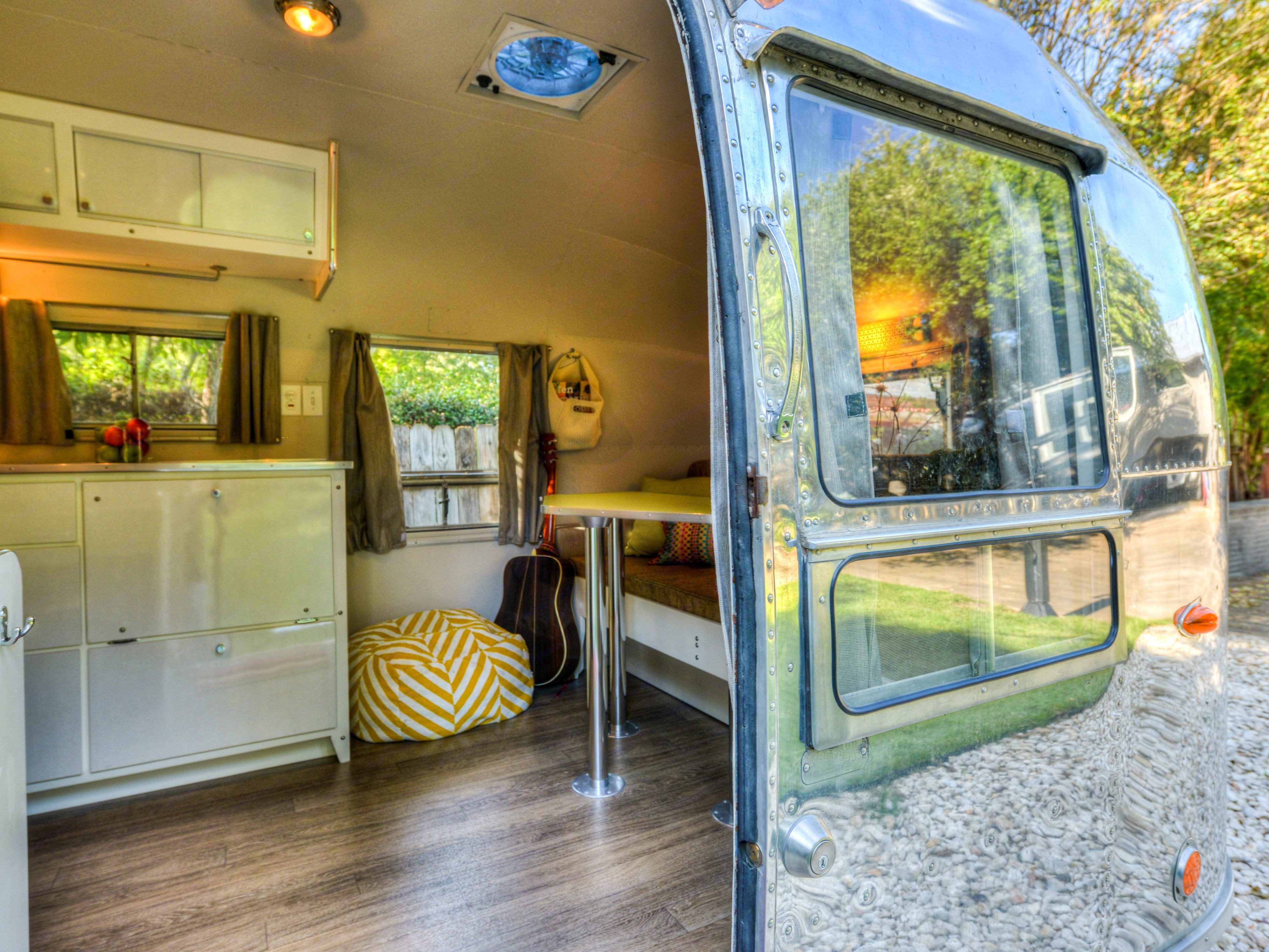 Spacious, functional layout with ample storage.. Airstream Crusier 1958