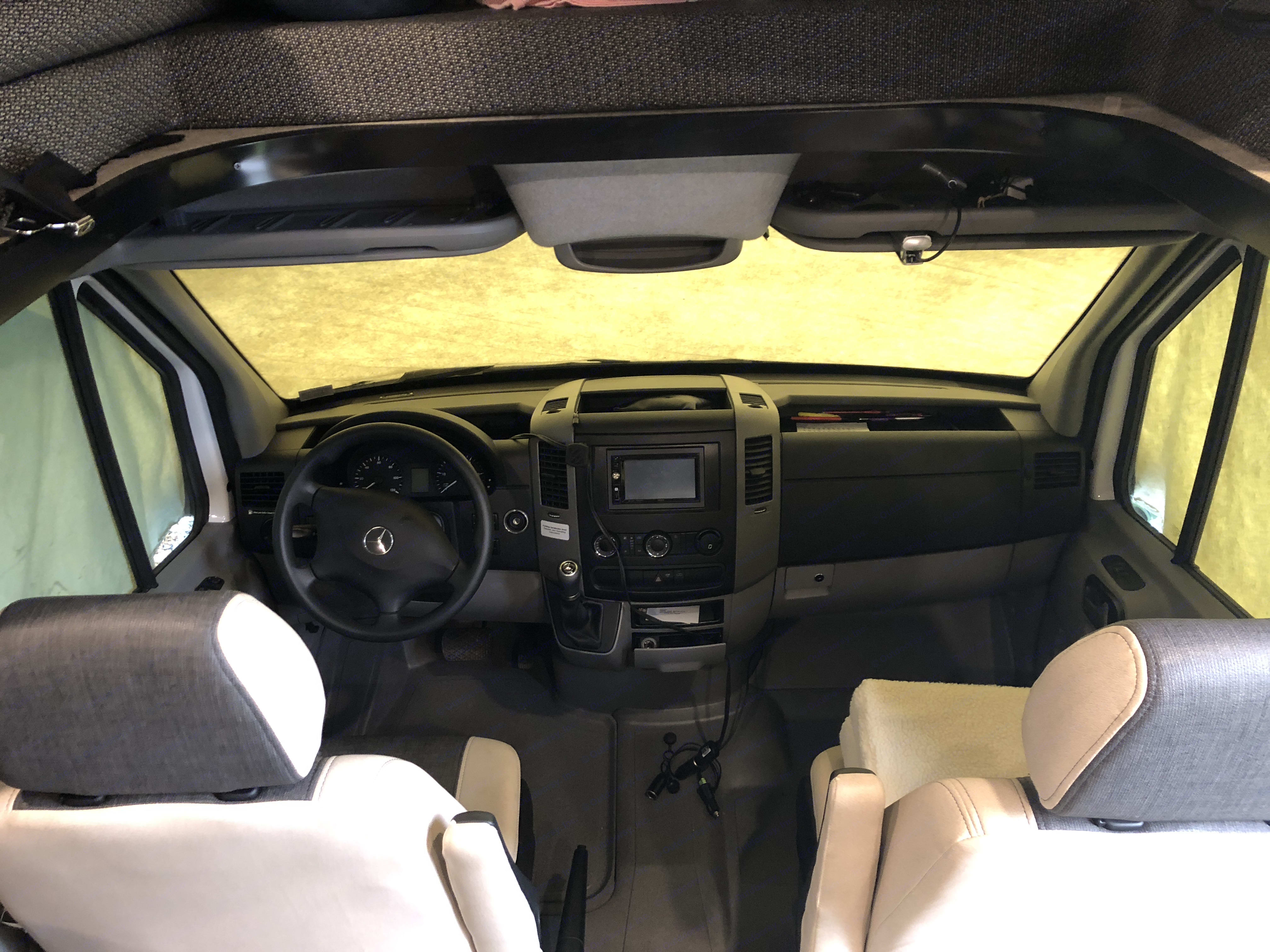 drivers and passenger area, seats rotate toward back also.. Coachmen Prism 2017