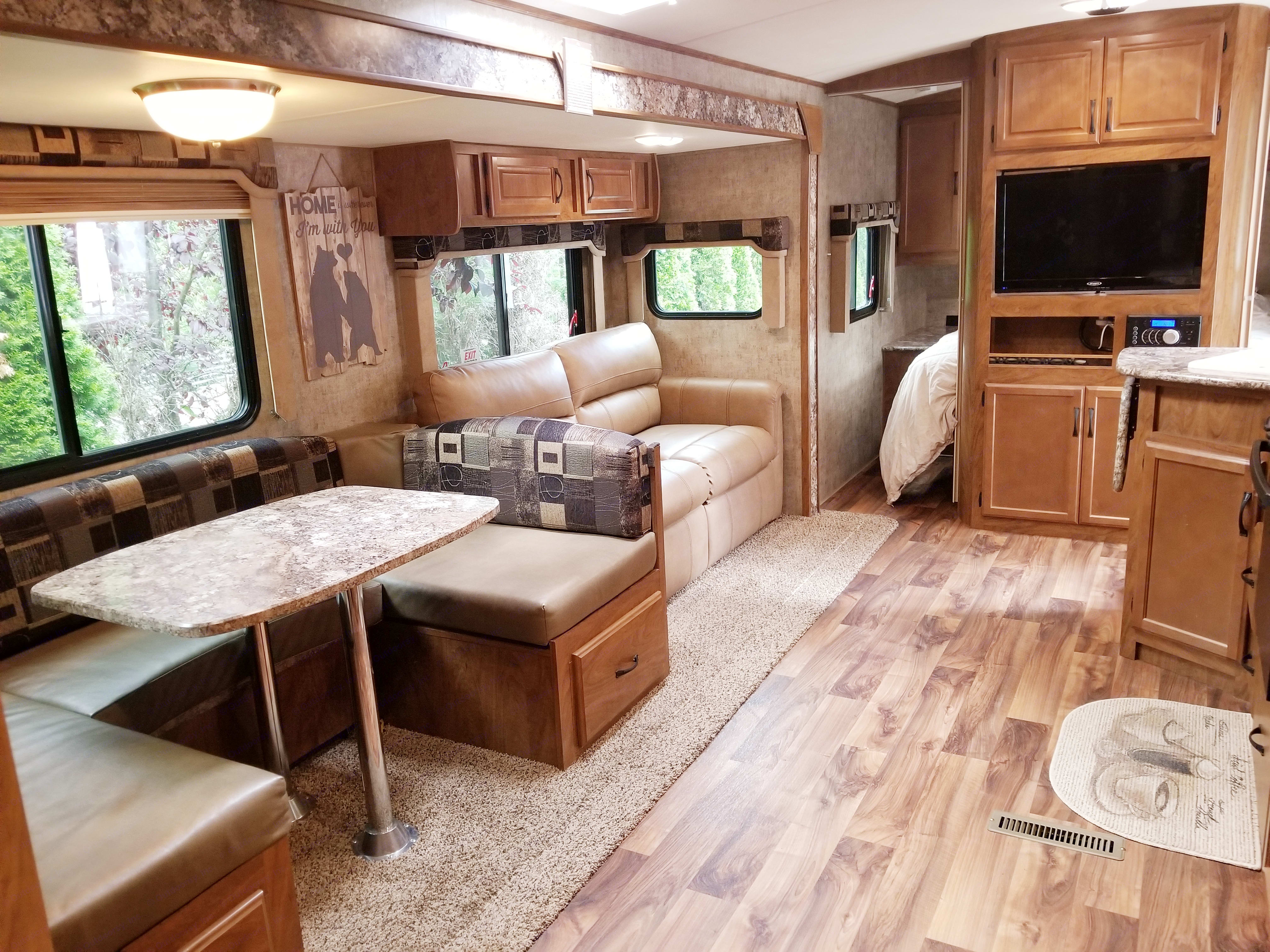 Dinning and full sleeper pull out sofa. Outdoors Rv Manufacturing Creek Side 2017