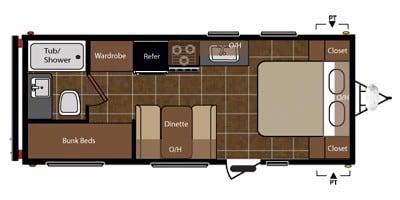 Manufacturer's Floor Plan Image. Keystone Springdale 2011