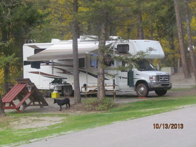 Camping in East Kootenays.. Forest River Sunseeker 2011
