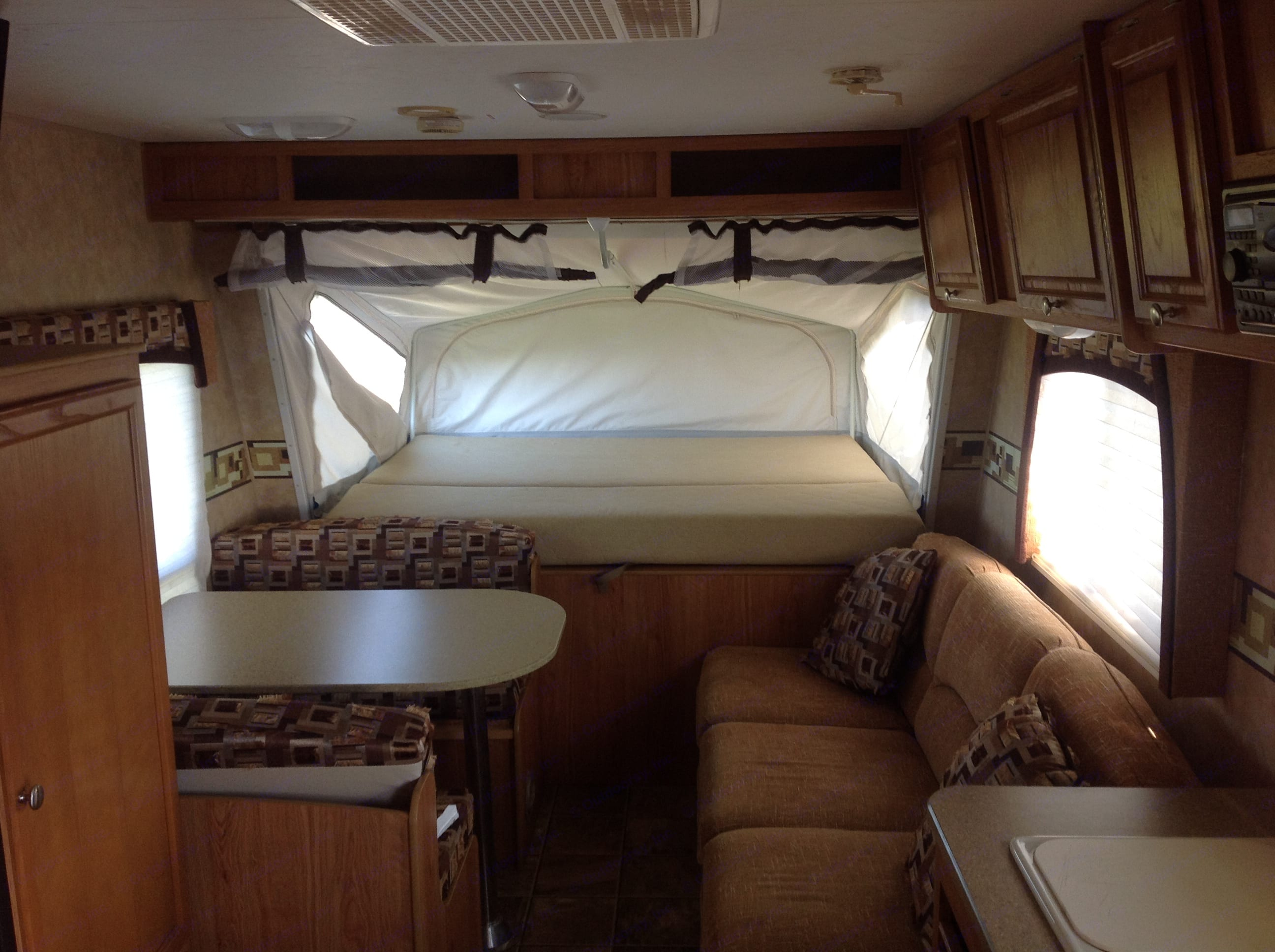 Front queen size bunk.  . Jayco Jay Feather 2008
