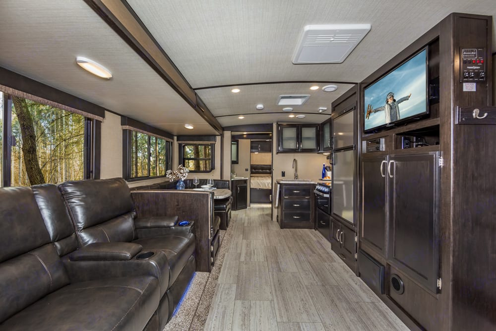 Lots and lots of room with two recliners with heat and massage!!!!. Grand Design Other 2019