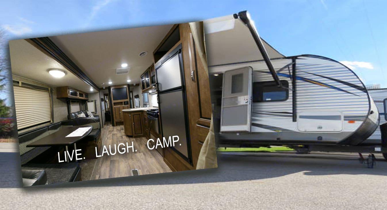 Live. Laugh. Camp.. Forest River Salem 2017