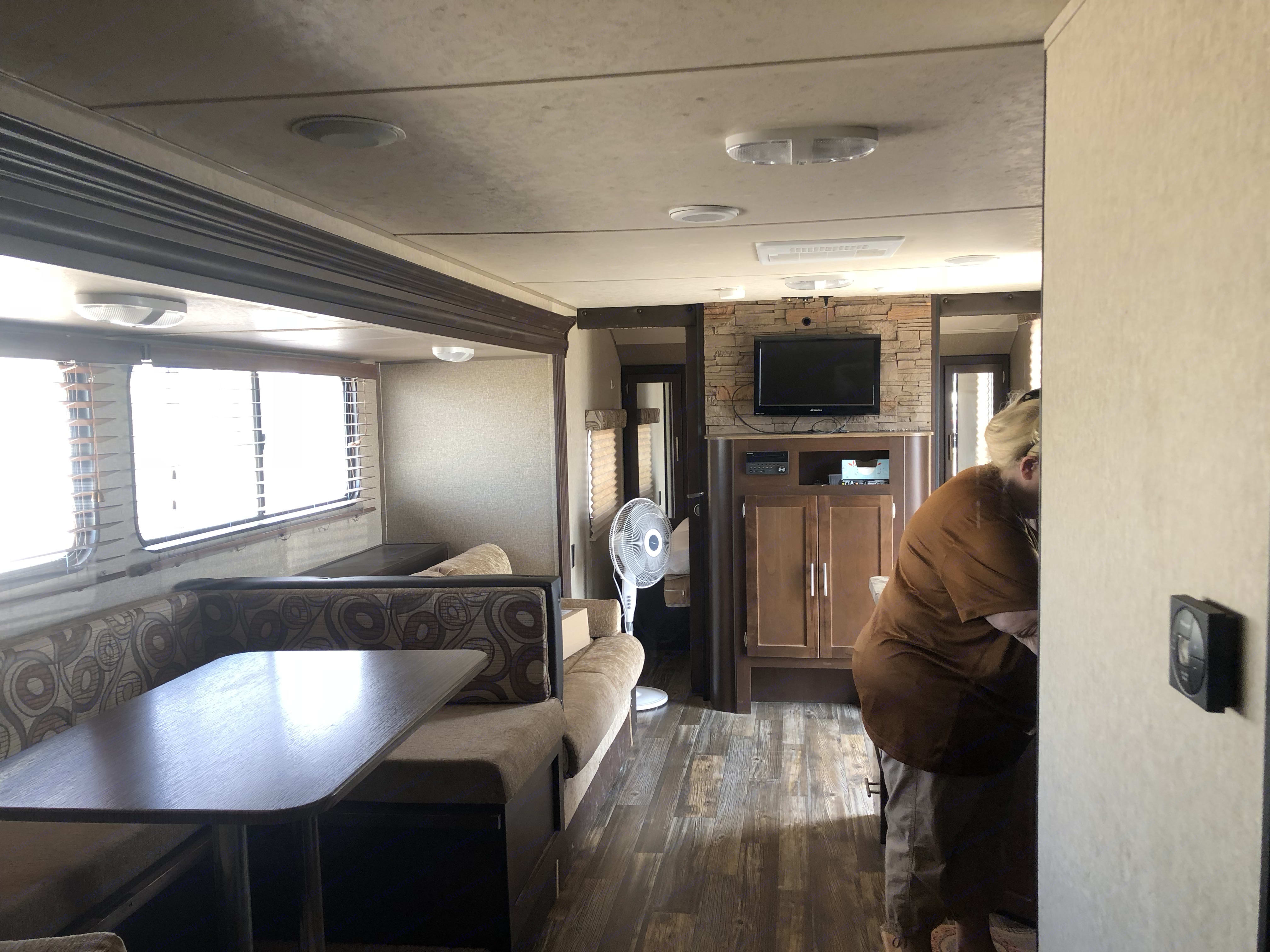 Looking to the front of the trailer. Forest River Cherokee Grey Wolf 2015