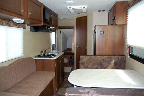 Interior view looking to the rear. Jayco Jay Feather Ultra Lite 16XRB 2014