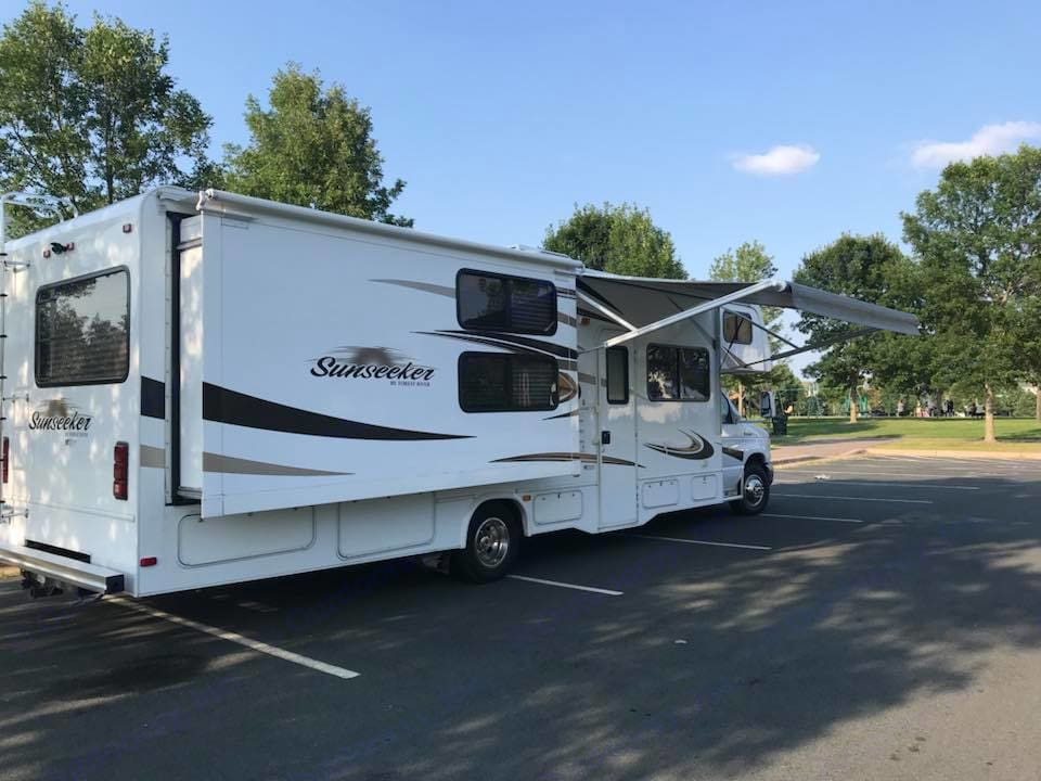 PERFECT condition....Well cared for, TONS of storage outside!. Forest River Sunseeker 2014