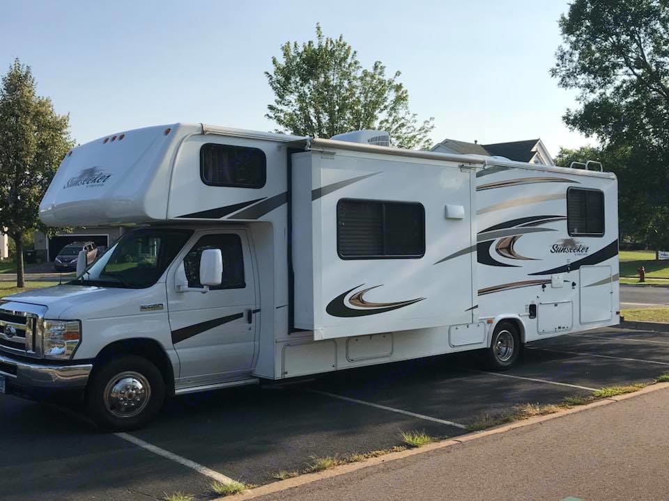 RV slide outs—we love them!. Forest River Sunseeker 2014