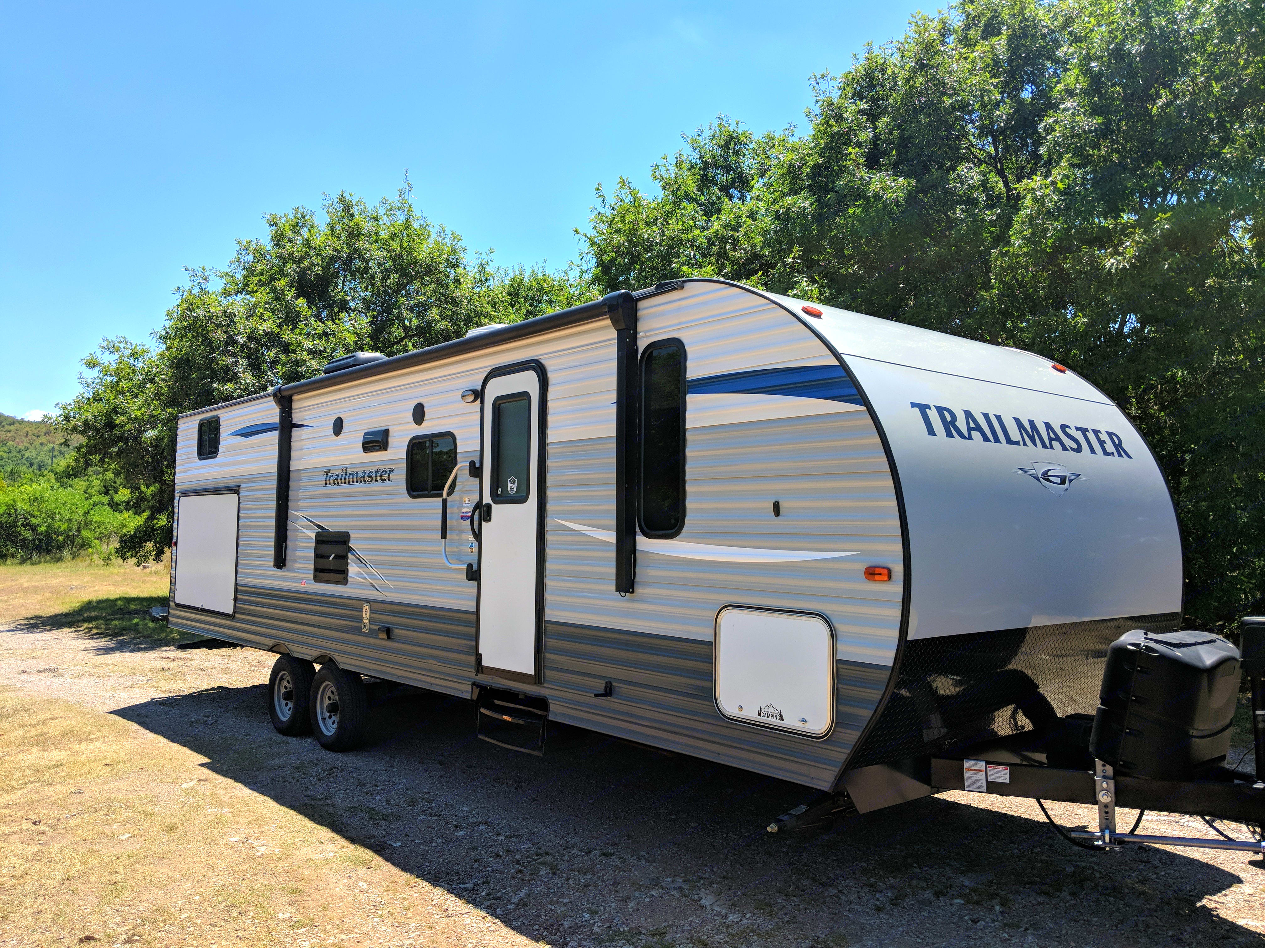 lots of useful amenities including electric awning, outdoor lighting, outdoor kitchen, plenty of storage (inside and outside), large slide out, and a lot more that will make any trip user friendly and enjoyable.. Gulf Stream Trailmaster 2018