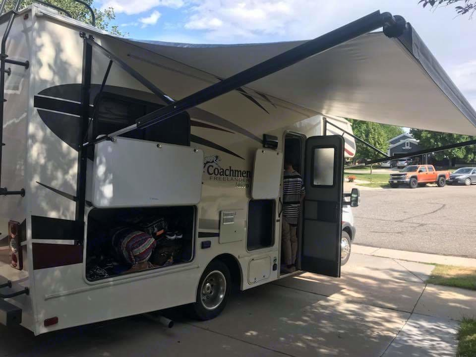 Great awning ready for relaxing!. Coachmen Freelander 2019