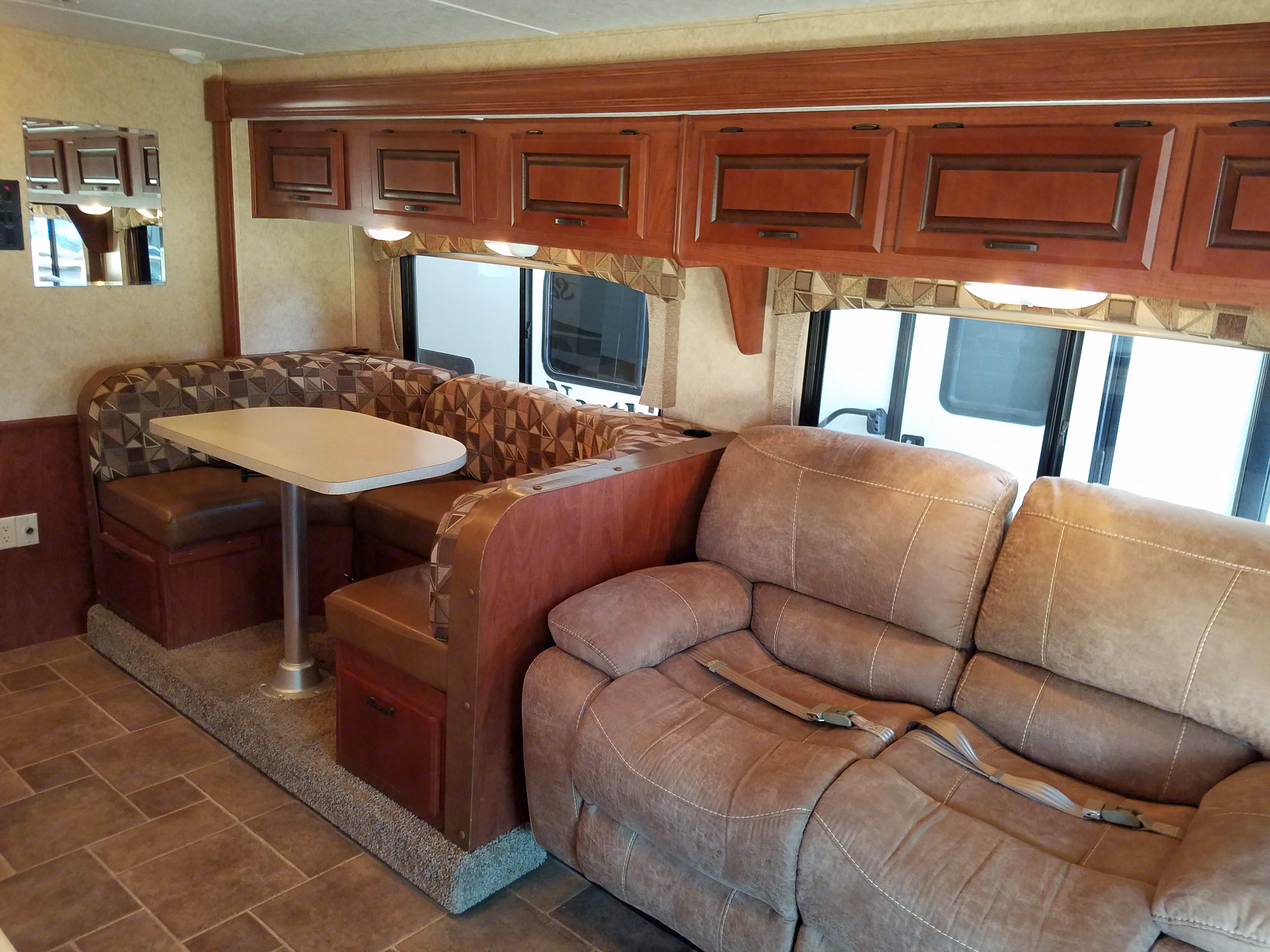 Looking towards recliners & dining area. Forest River Sunseeker 2012