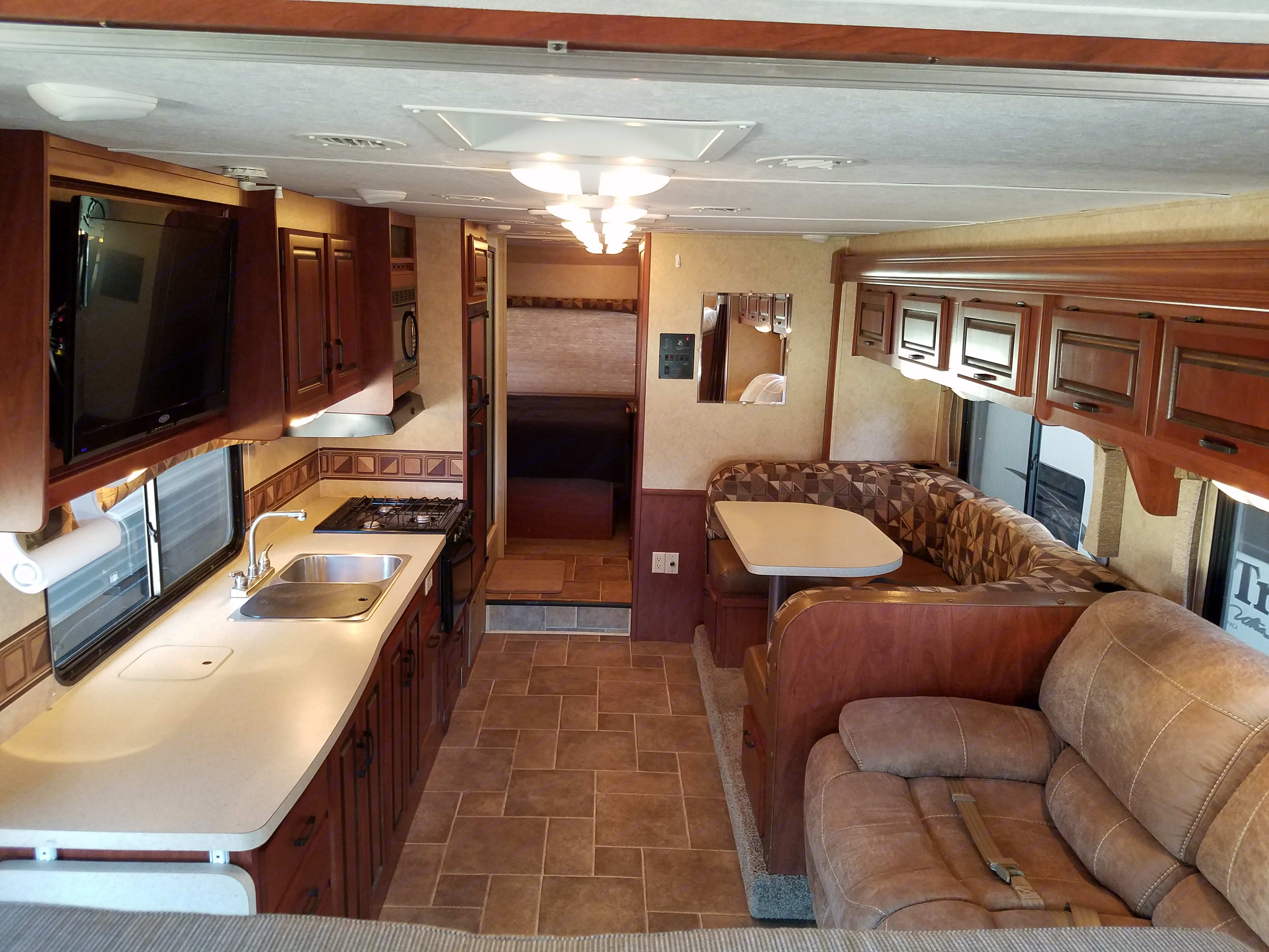 Looking towards the back. Forest River Sunseeker 2012