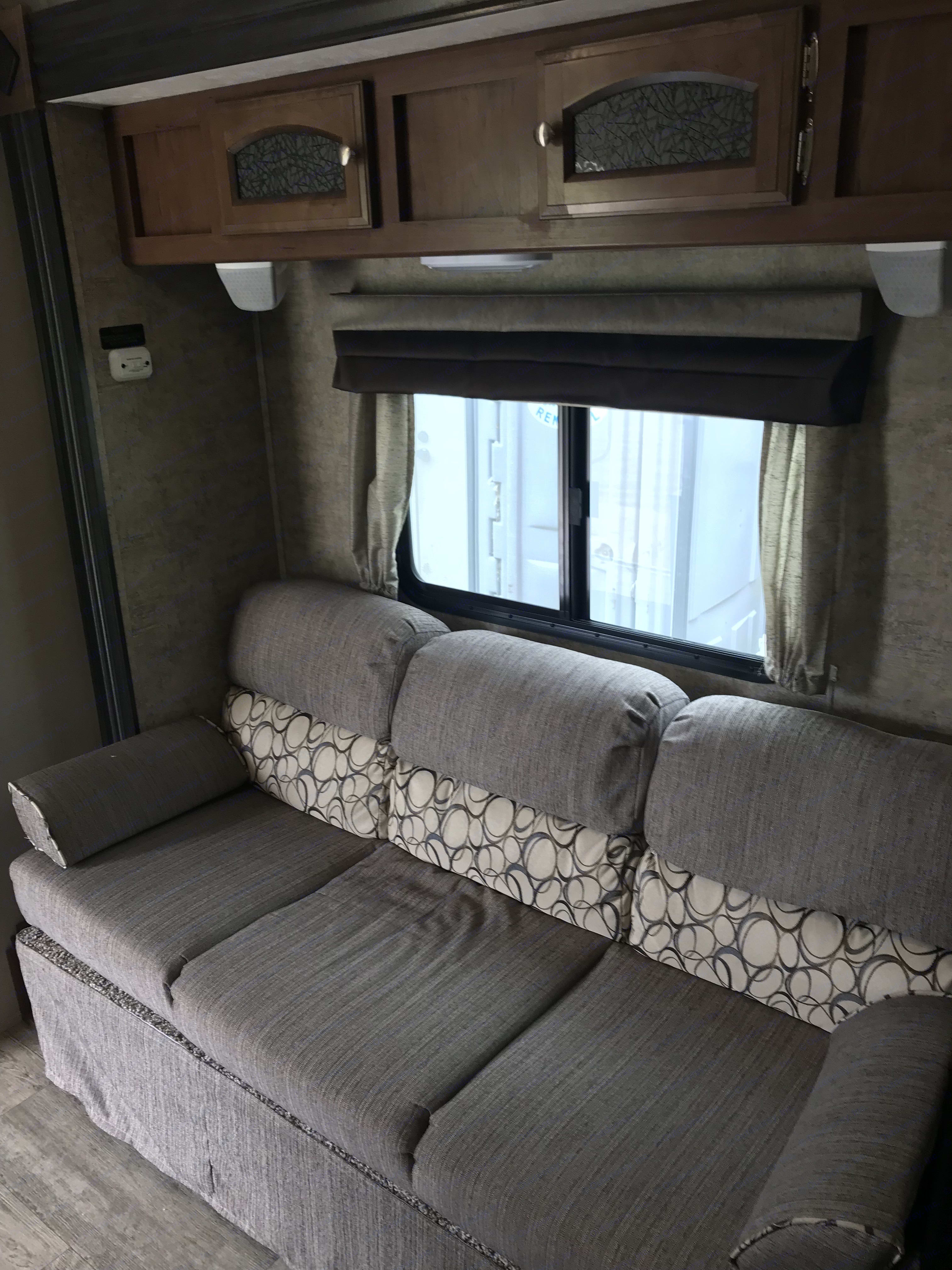 Couch are folds out to a bed. Coachmen 192RBS FREEDOM EXPRESS 2017