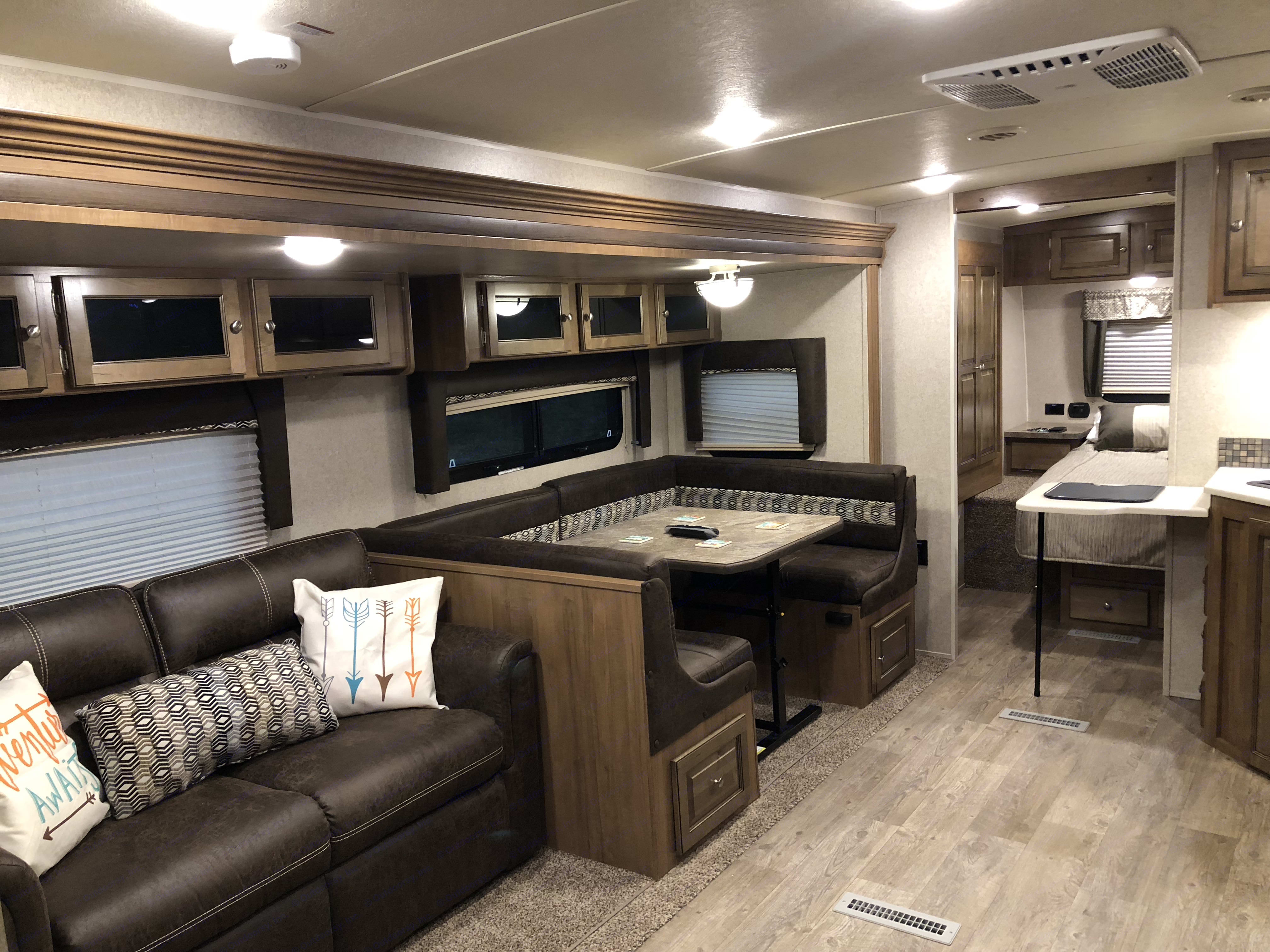SPACIOUS INTERIOR . Forest River Rockwood Ultra Lite 2019