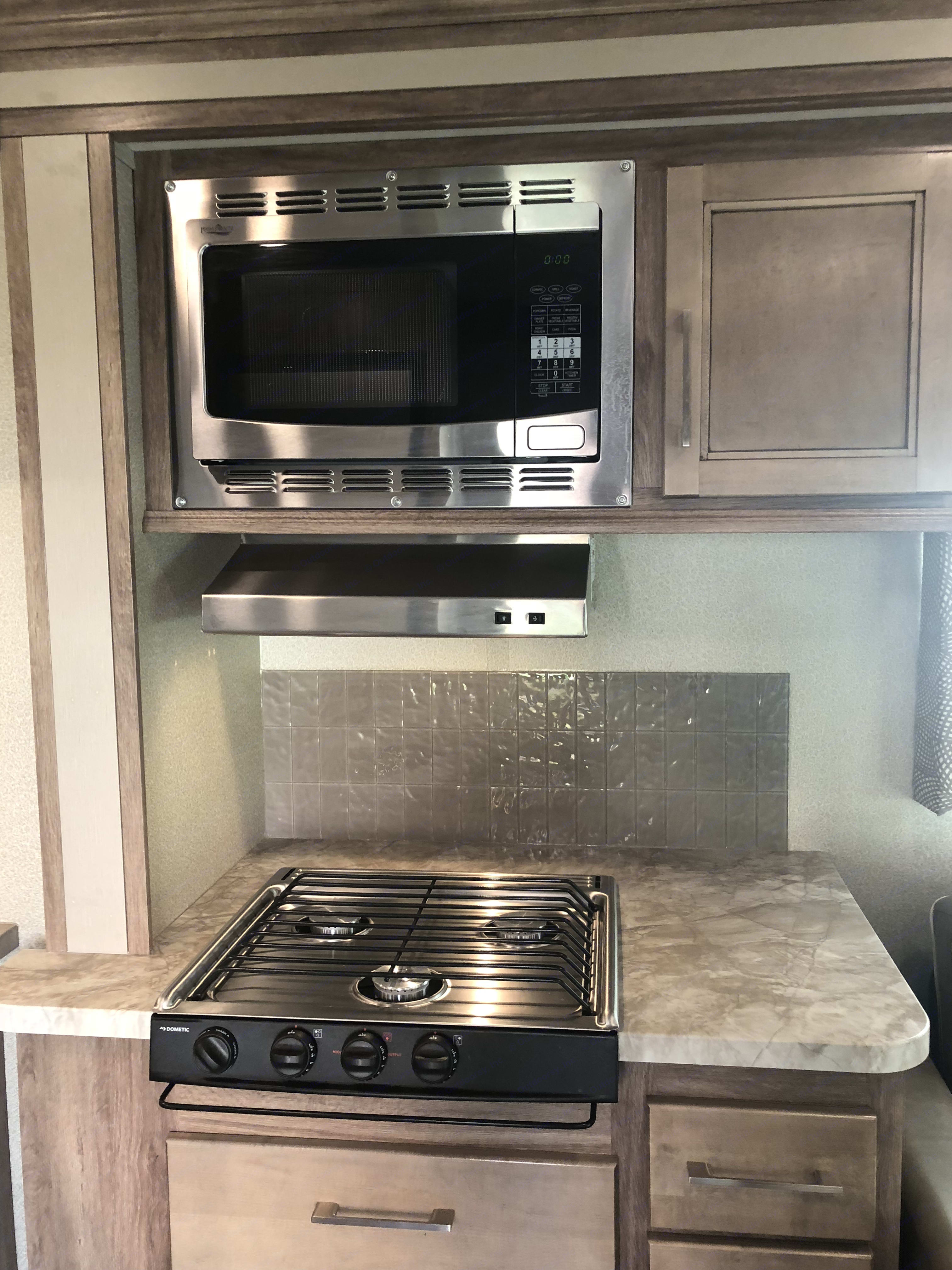 Convection/Microwave Oven and stove. Entegra Odyssey 2019
