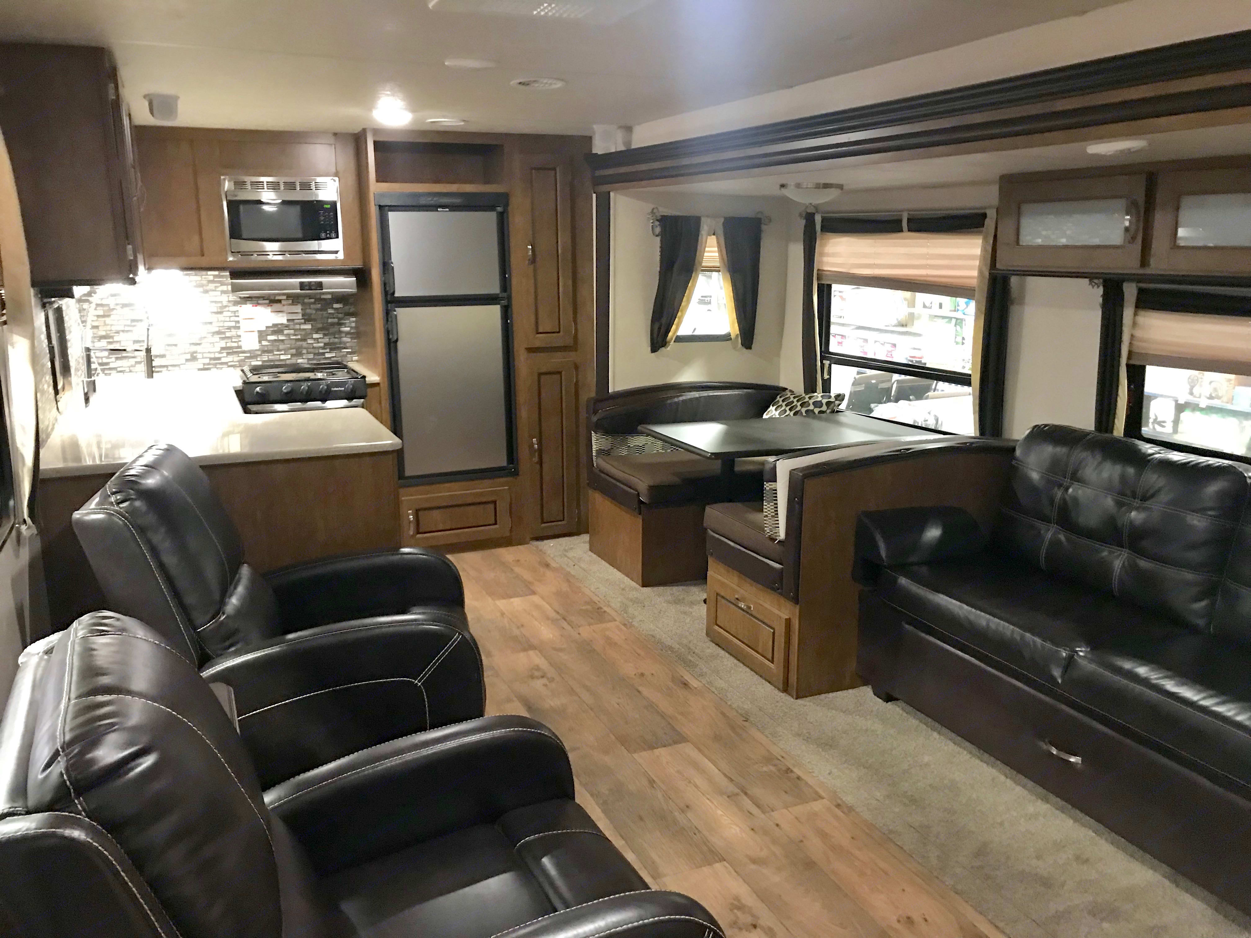 Main living space. Forrest River Wildwood 2017