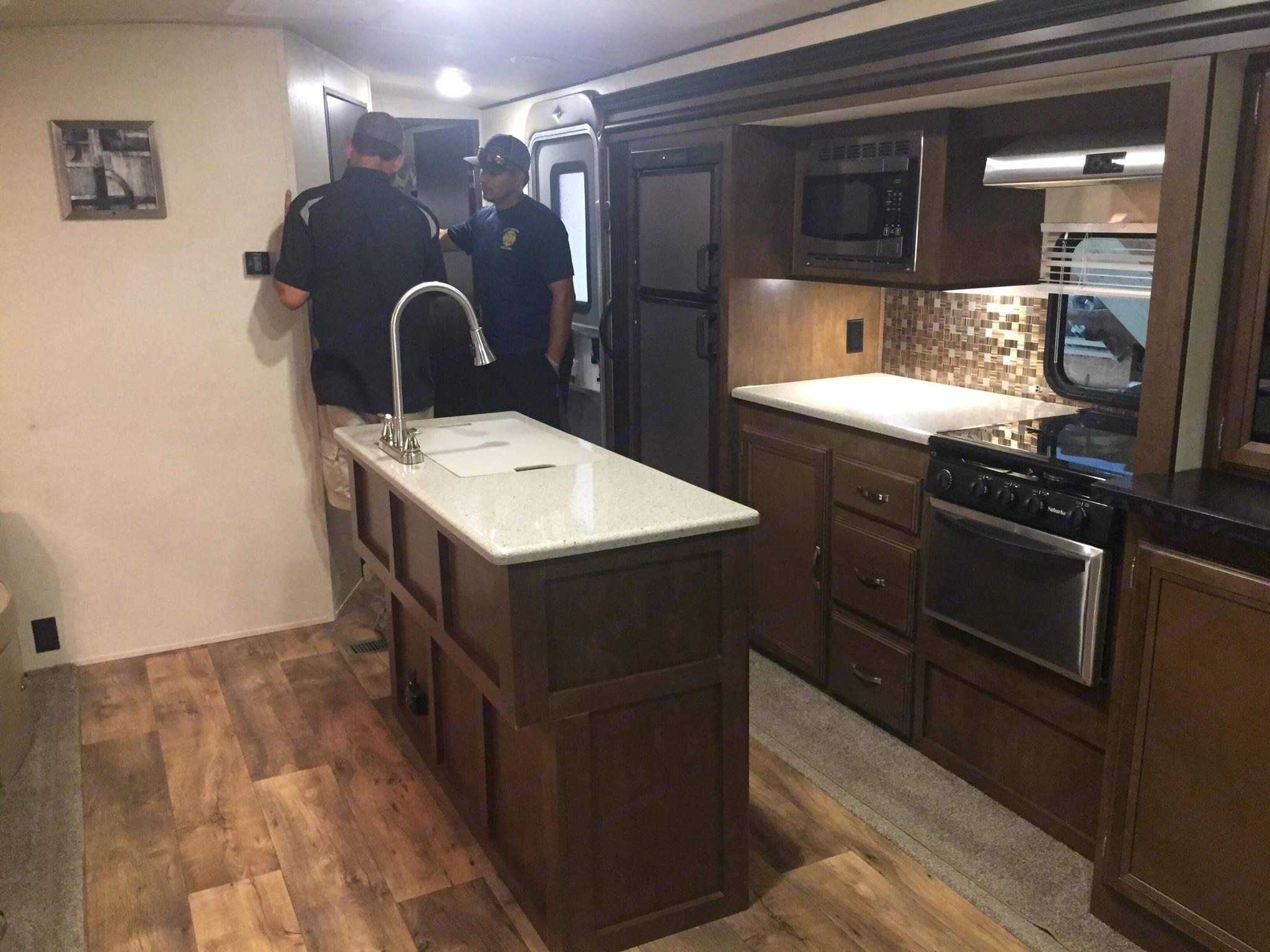 Kitchen / island . Forest River Salem Hemisphere 2017
