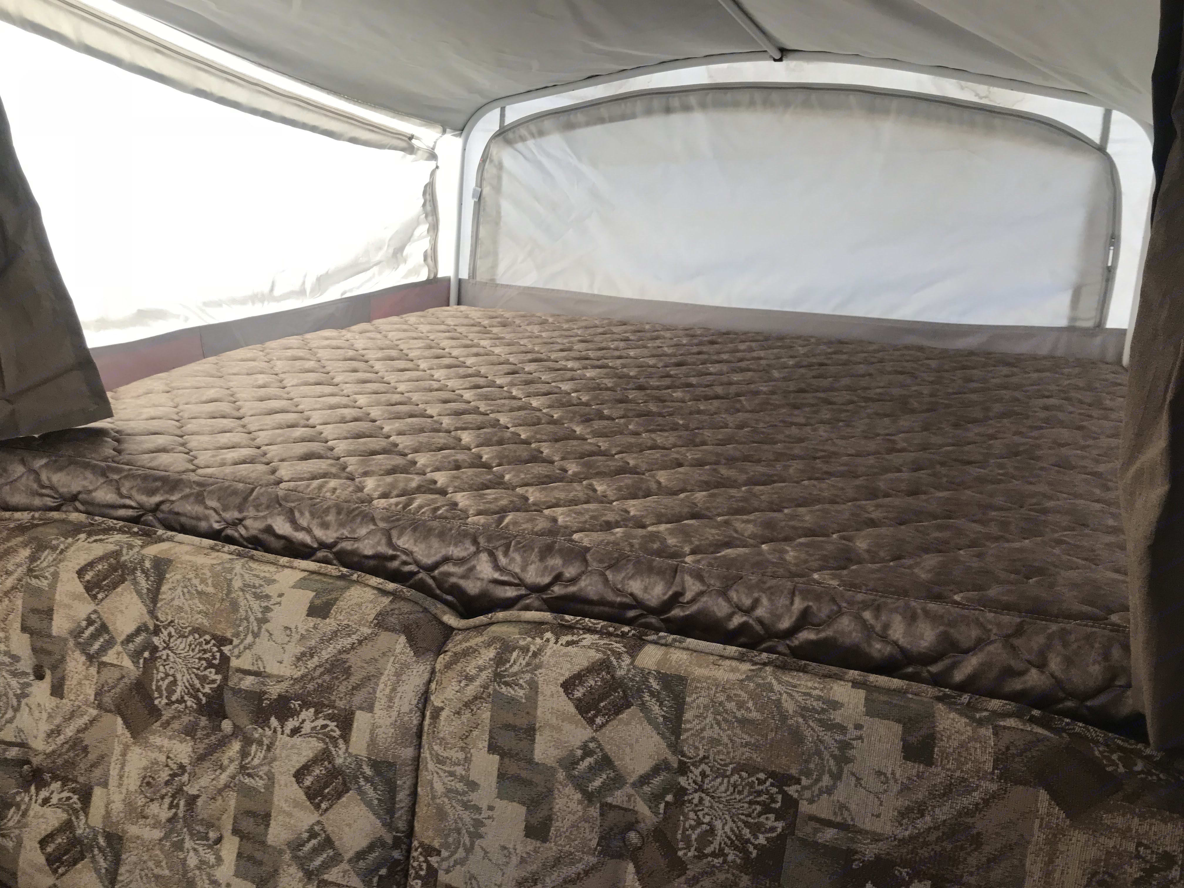 King size pull out bed behind fold down couch. Fleetwood Avalon 2009