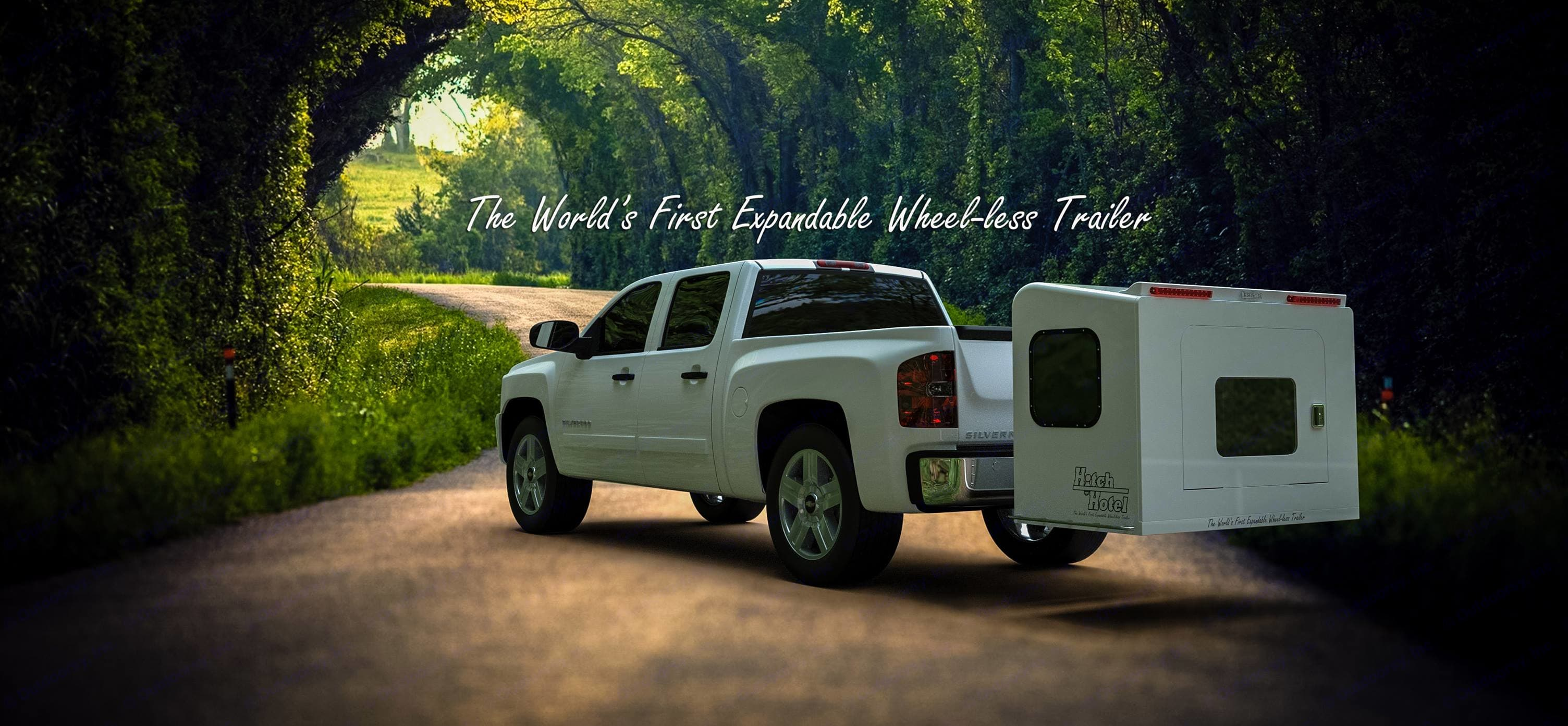 Hitch Hotel Expandable Wheel Less Trailer 2019