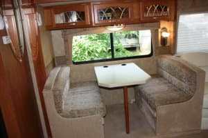 Banquette, seats 4 adults no problem. Forest River Georgetown 391 TS 2007