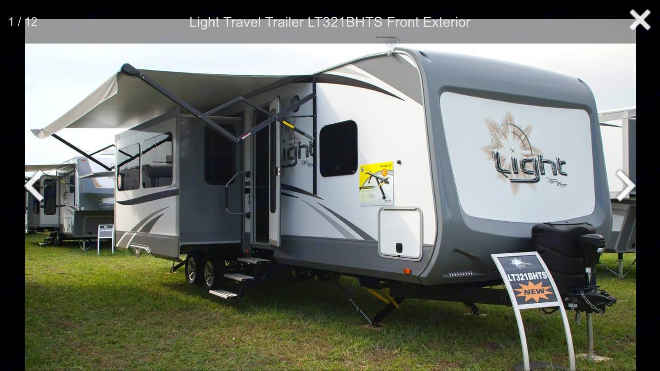 Bumper pull trailer- 38 feet long. Open Range Light 2018