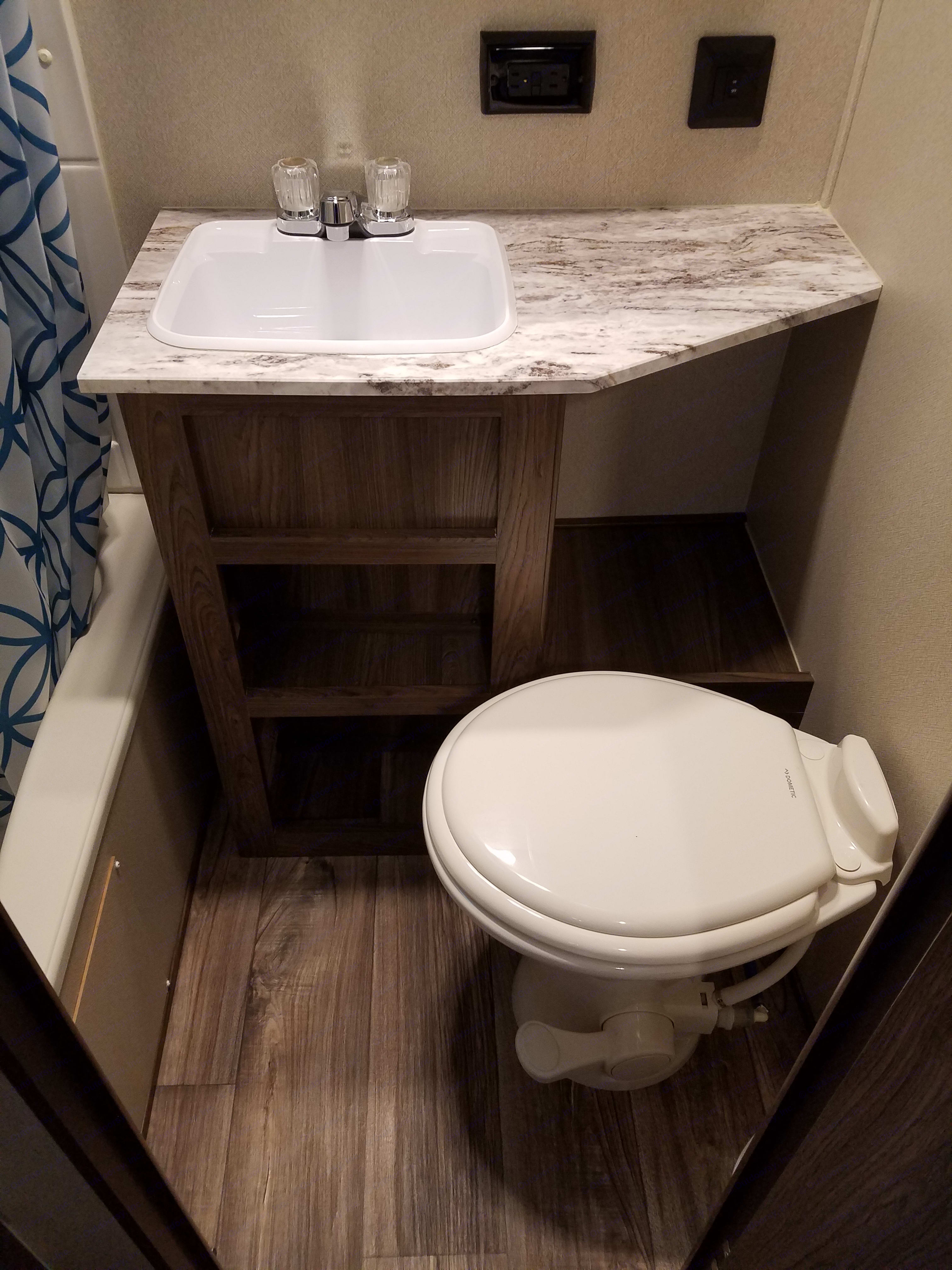 Full bathroom with sink.  Only model of this size with a bathroom sink. Riverside Rv Other 2019