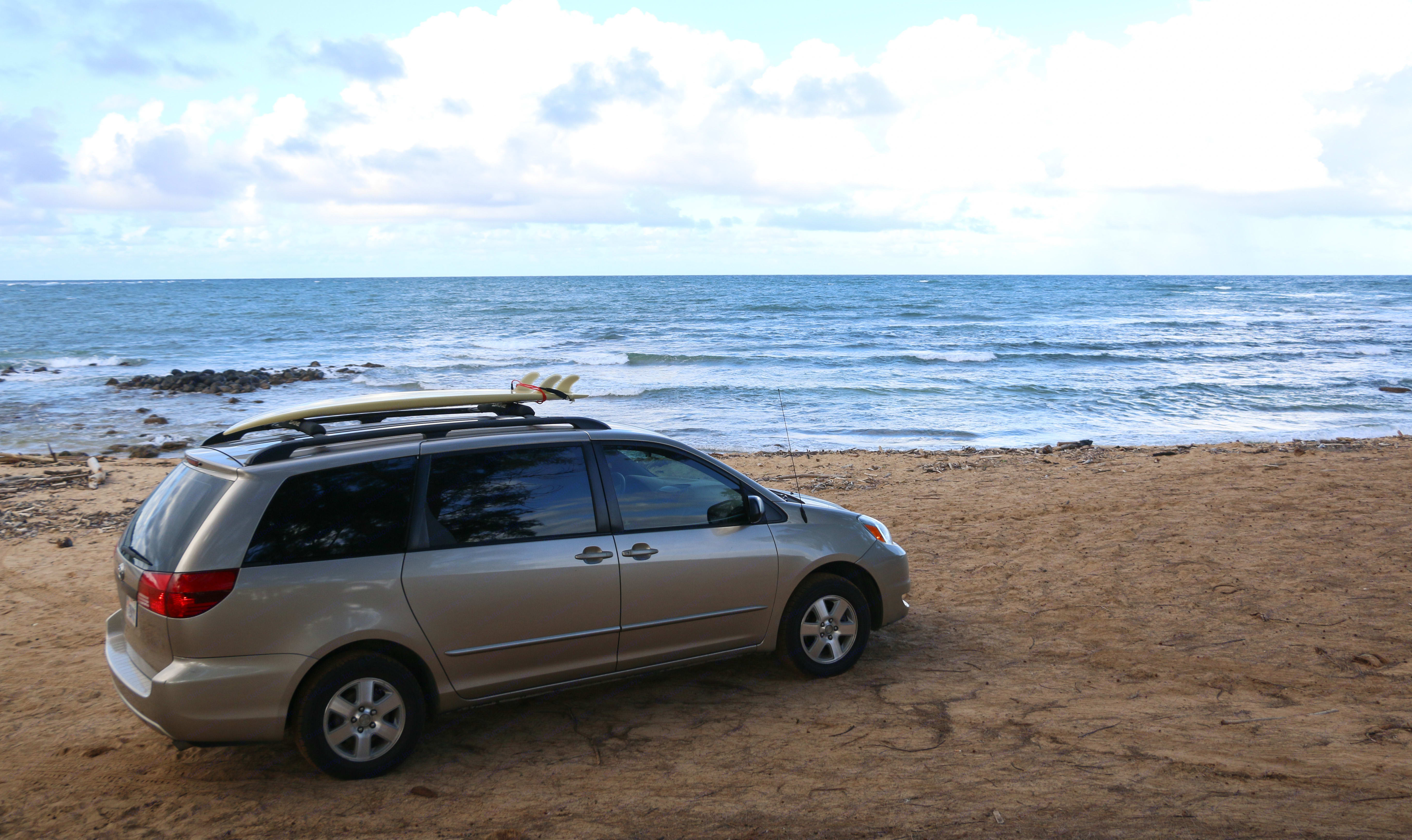 Check it out! This is at Anahola Beach. . Toyota Sienna Camper 2004