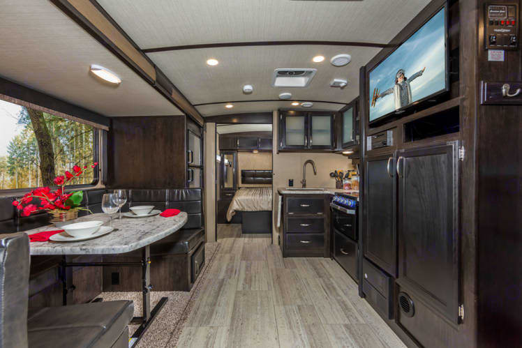 Walking Into RV. Grand Design Imagine 2400BH 2019