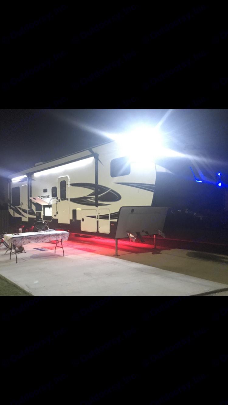 Exterior at night . Dutchmen voltage 3005 2017