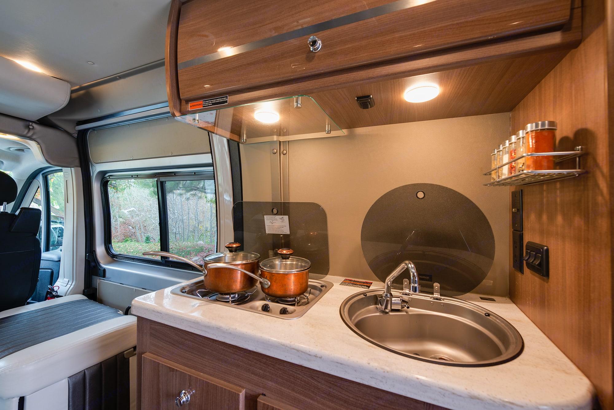 Note: we now offer dual burner portable camp stove. . Winnebago Travato 2016