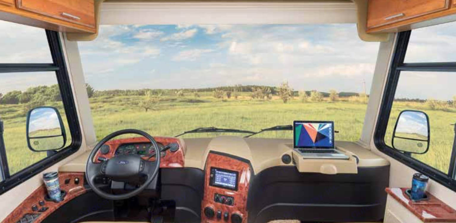 Our favorite part of the RV is the view!. Jayco Precept 29U 2016