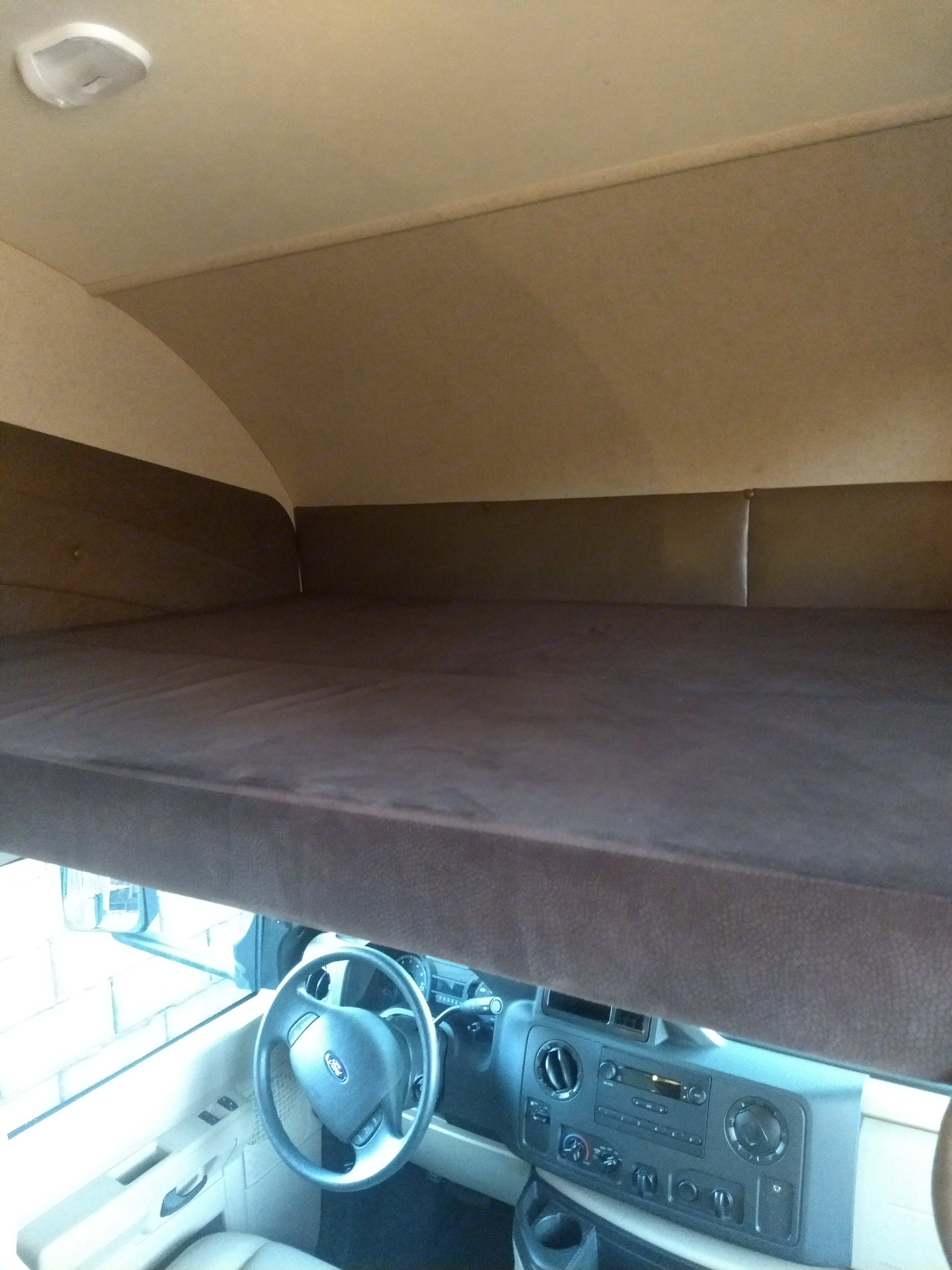 Over cab bed. Jayco Redhawk 2016