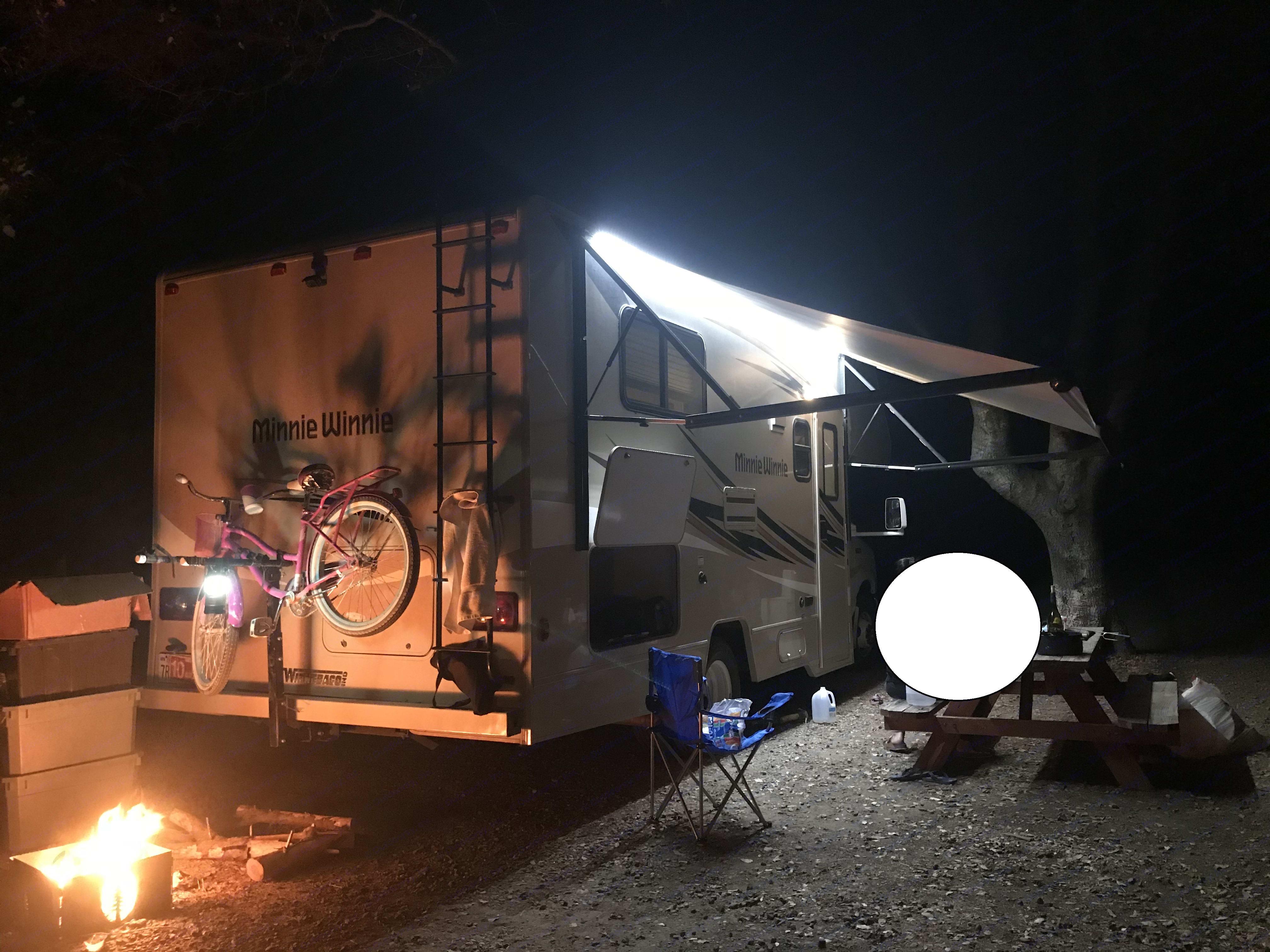 Outdoor LED Awning Light. Winnebago Minnie 2017