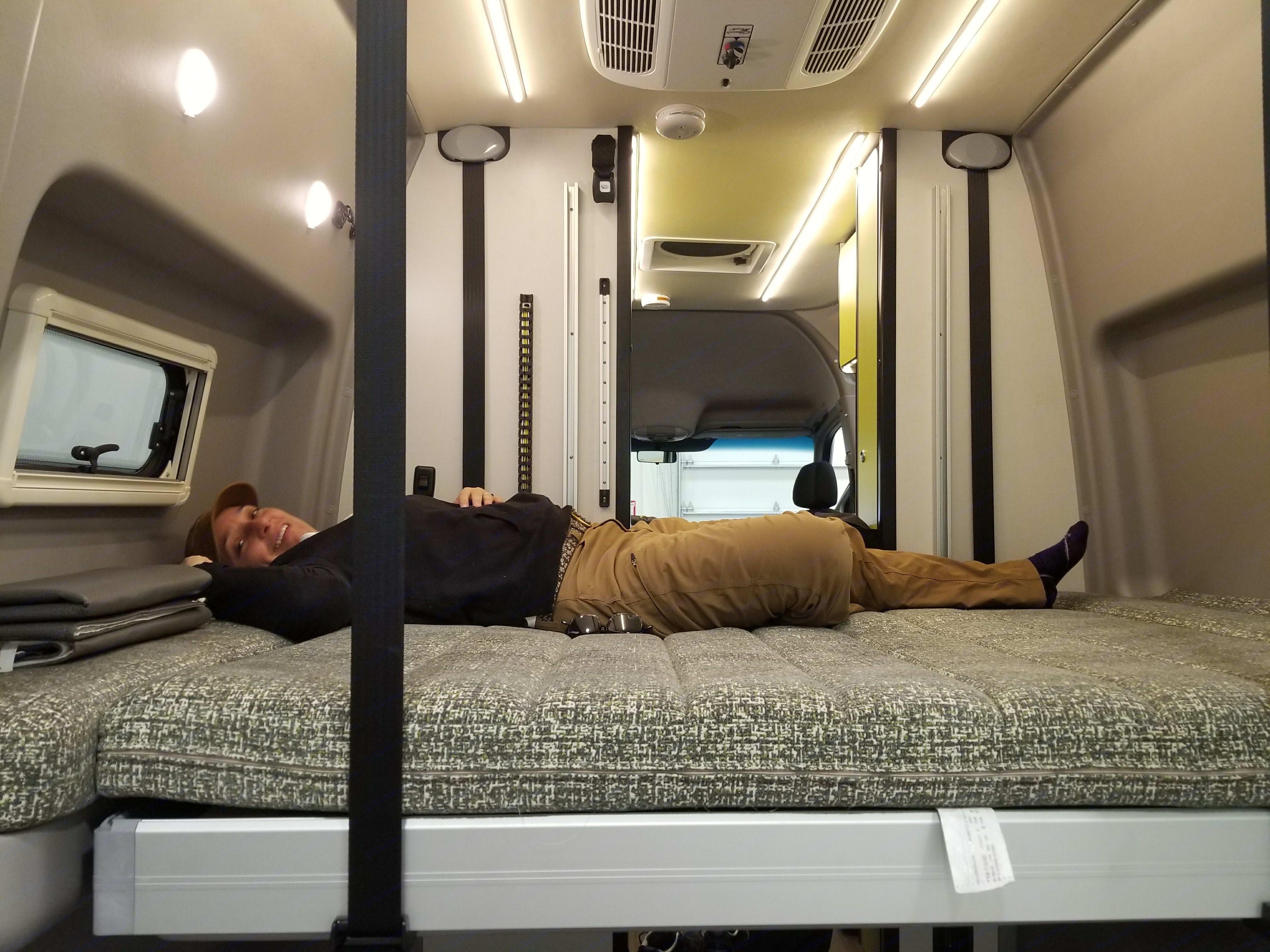 "Comfortably sleeps up 6'3"". Mercedes-Benz Sprinter RV Motorhome Campervan 2019"