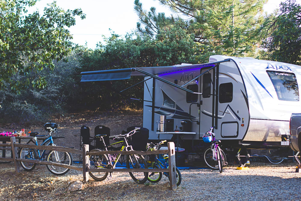All set up!  Bikes not included in rental. Coachmen Apex 2019