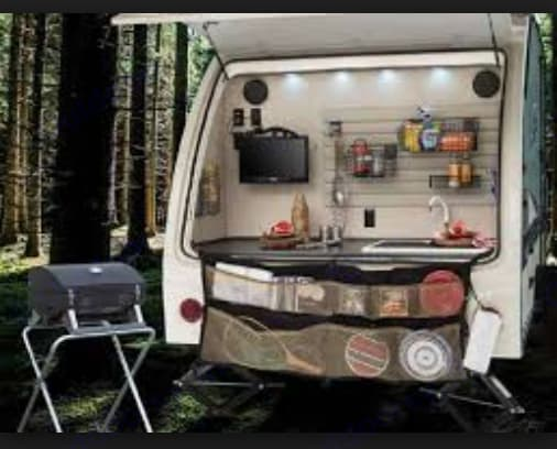Outdoor kitchen and grill...tv can be moved outside and has outdoor speakers.. Forest River R-Pod 183G 2016