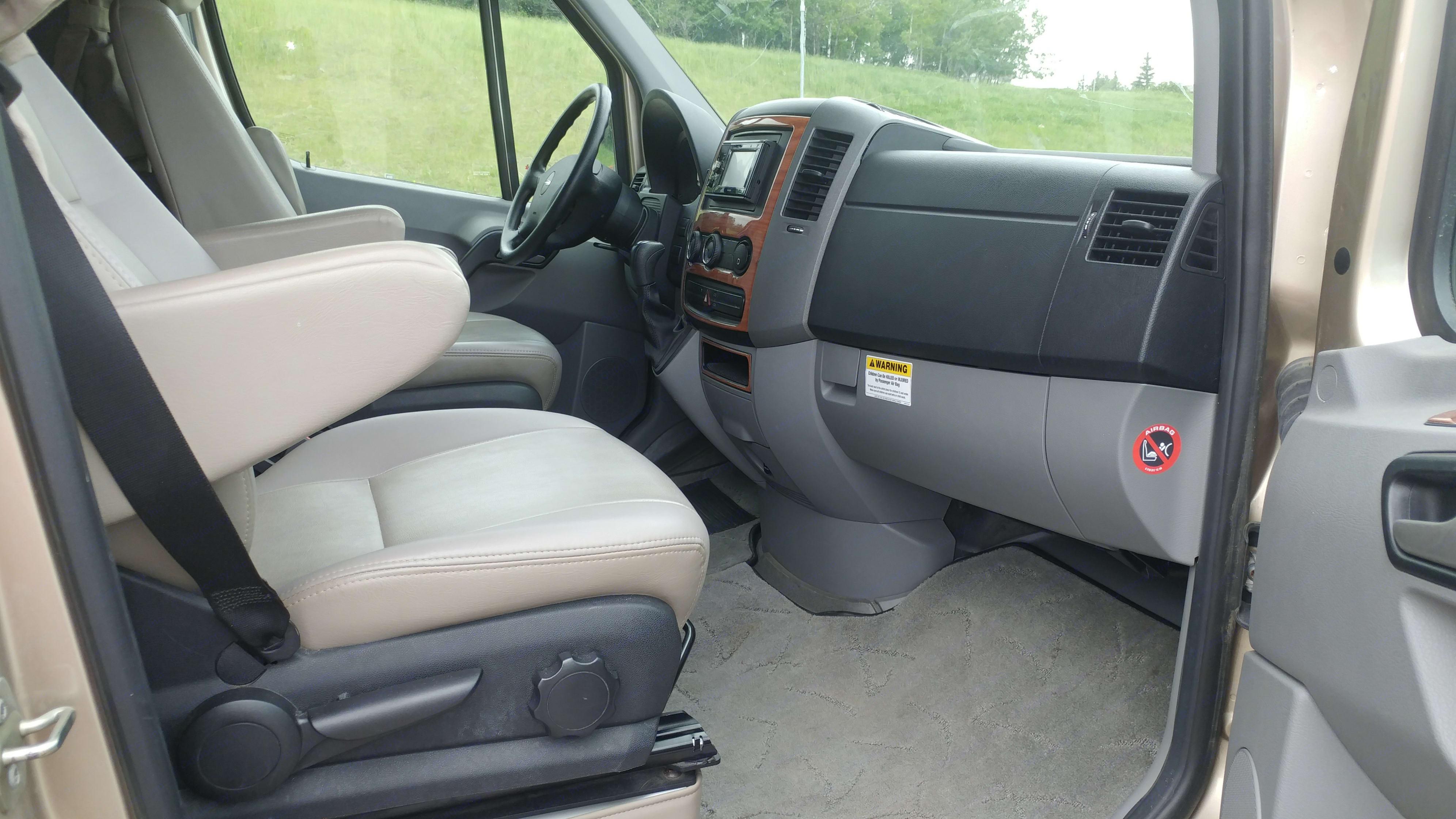 Passenger Side Front with Door Open.. Roadtrek Ss Ideal 2010
